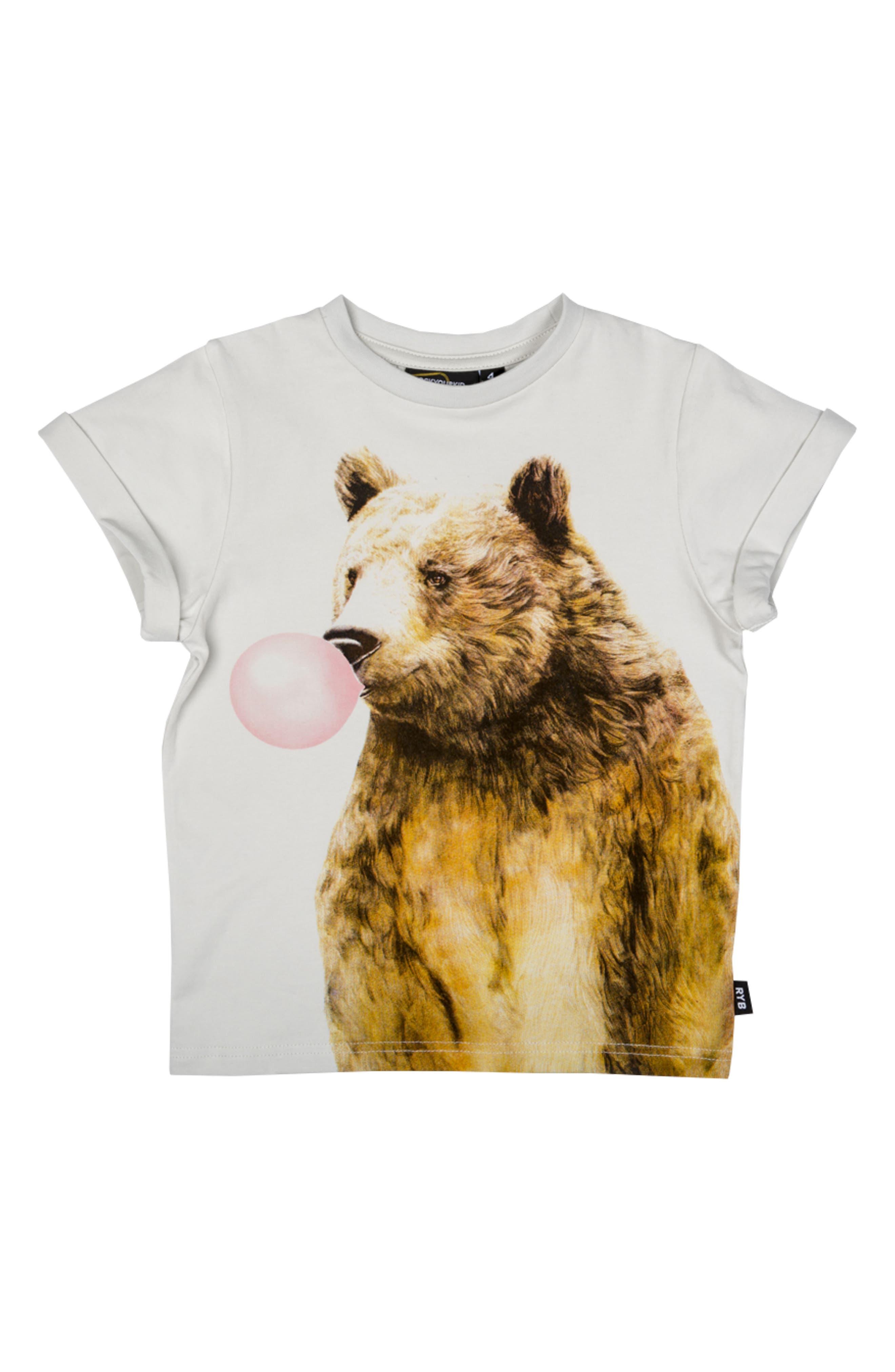Rock Your Kid Bubblegum Bear Graphic T-Shirt (Toddler Boys, Little Boys & Big Boys)