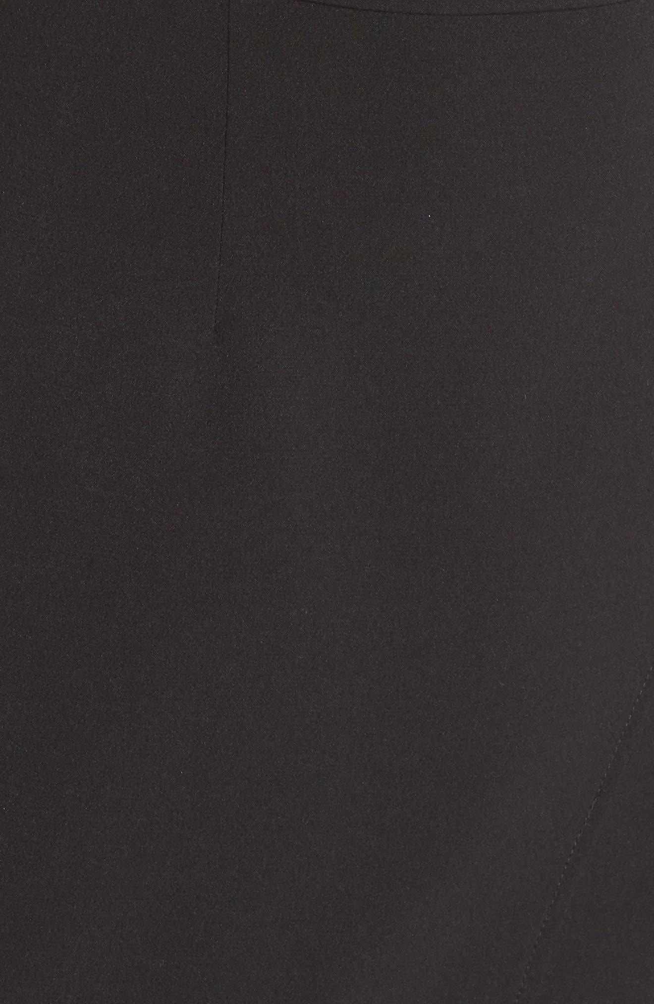 Halter Asymmetrical Sheath Dress,                             Alternate thumbnail 6, color,                             Black