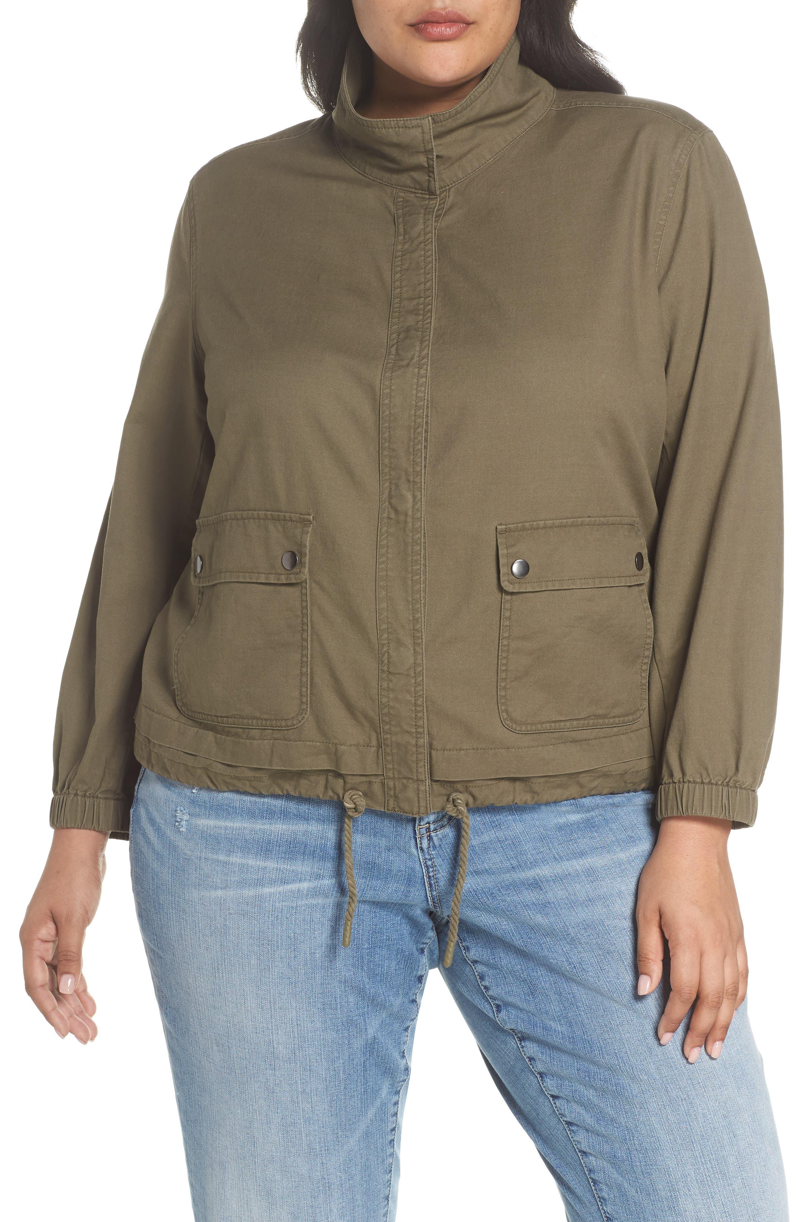 Snap Pocket Utility Jacket,                             Alternate thumbnail 4, color,                             Olive Kalamata