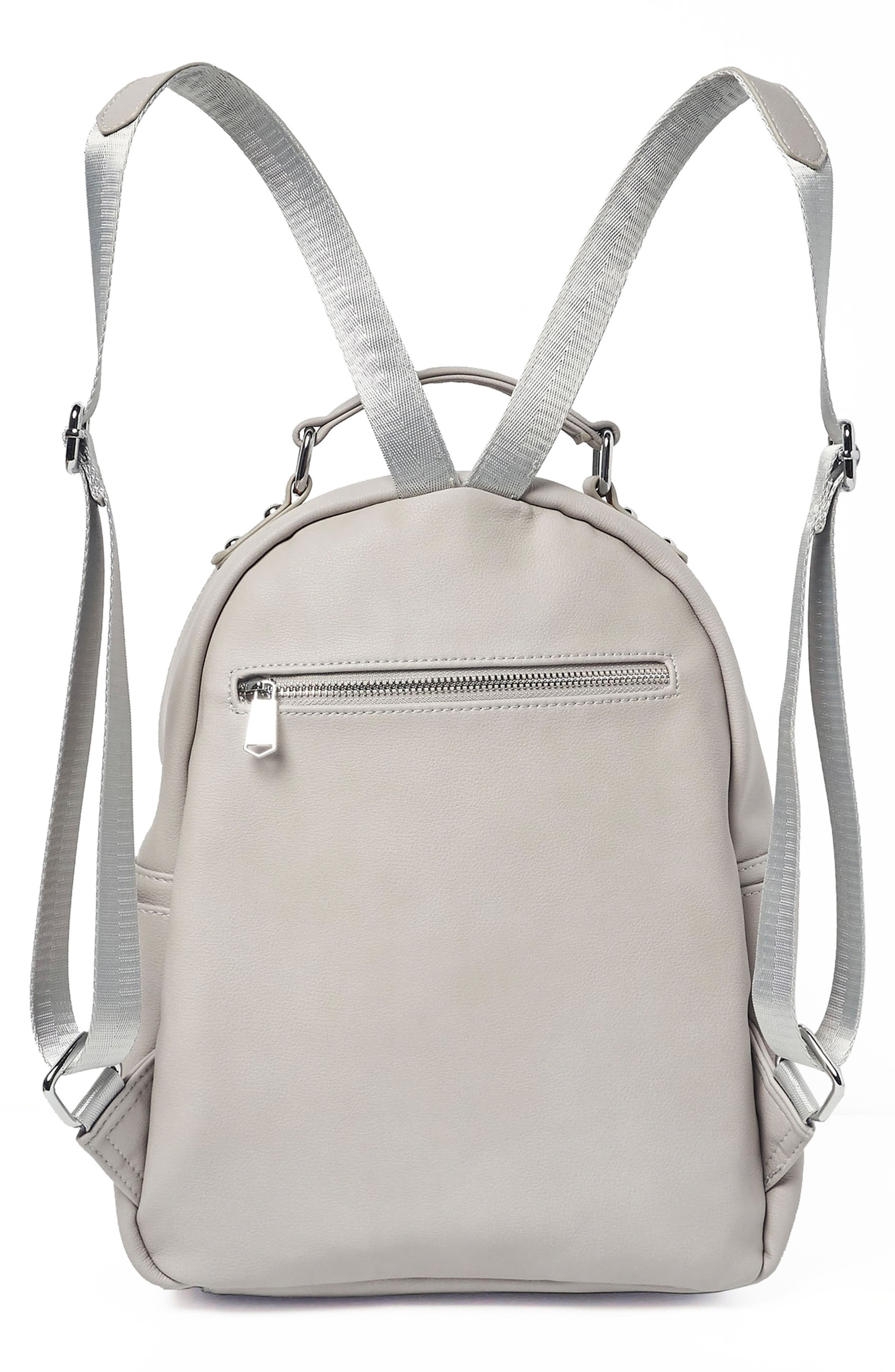 On My Own Vegan Leather Backpack,                             Alternate thumbnail 2, color,                             Grey