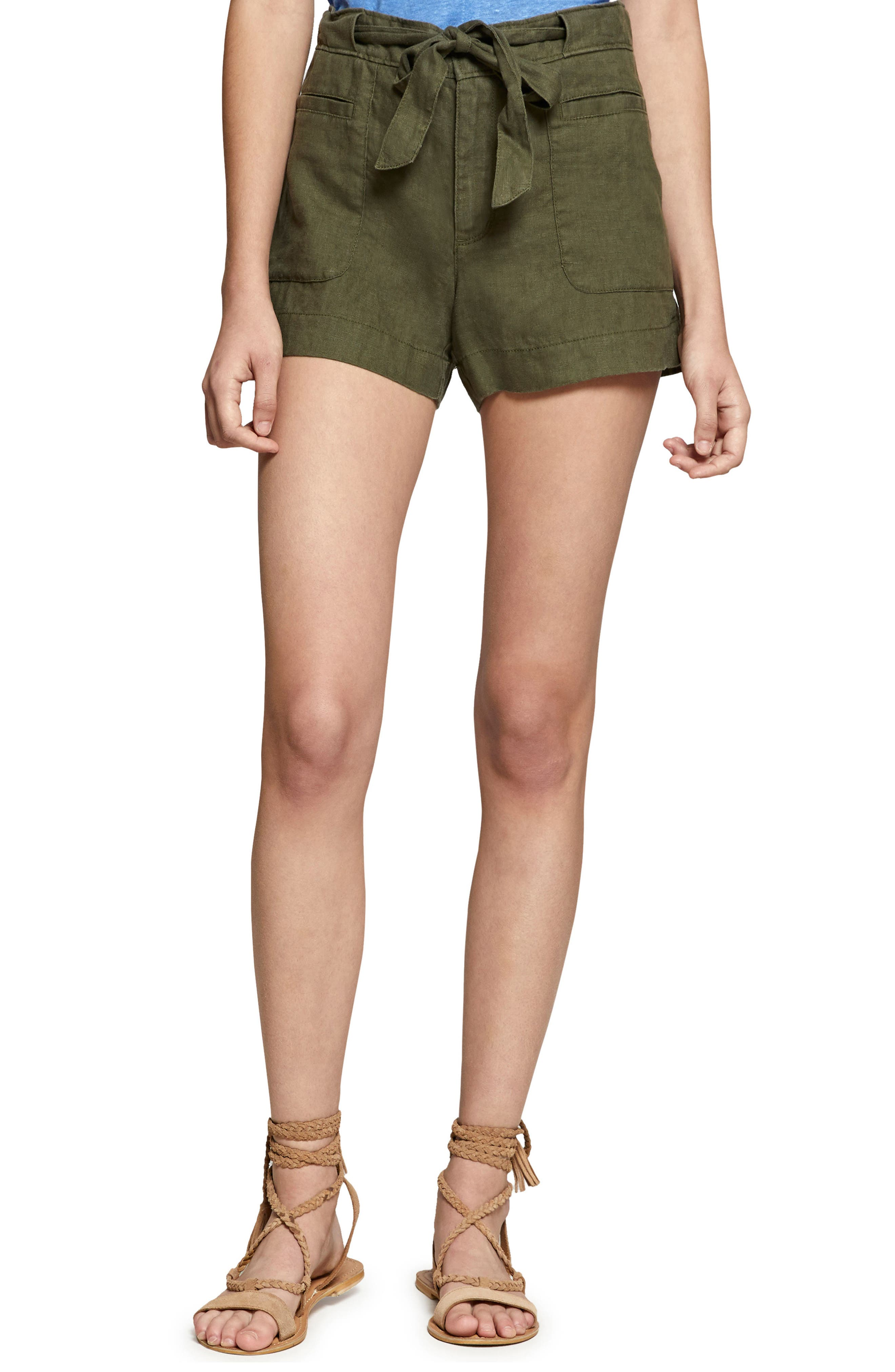 Main Image - Sanctuary Sasha Linen Utility Shorts