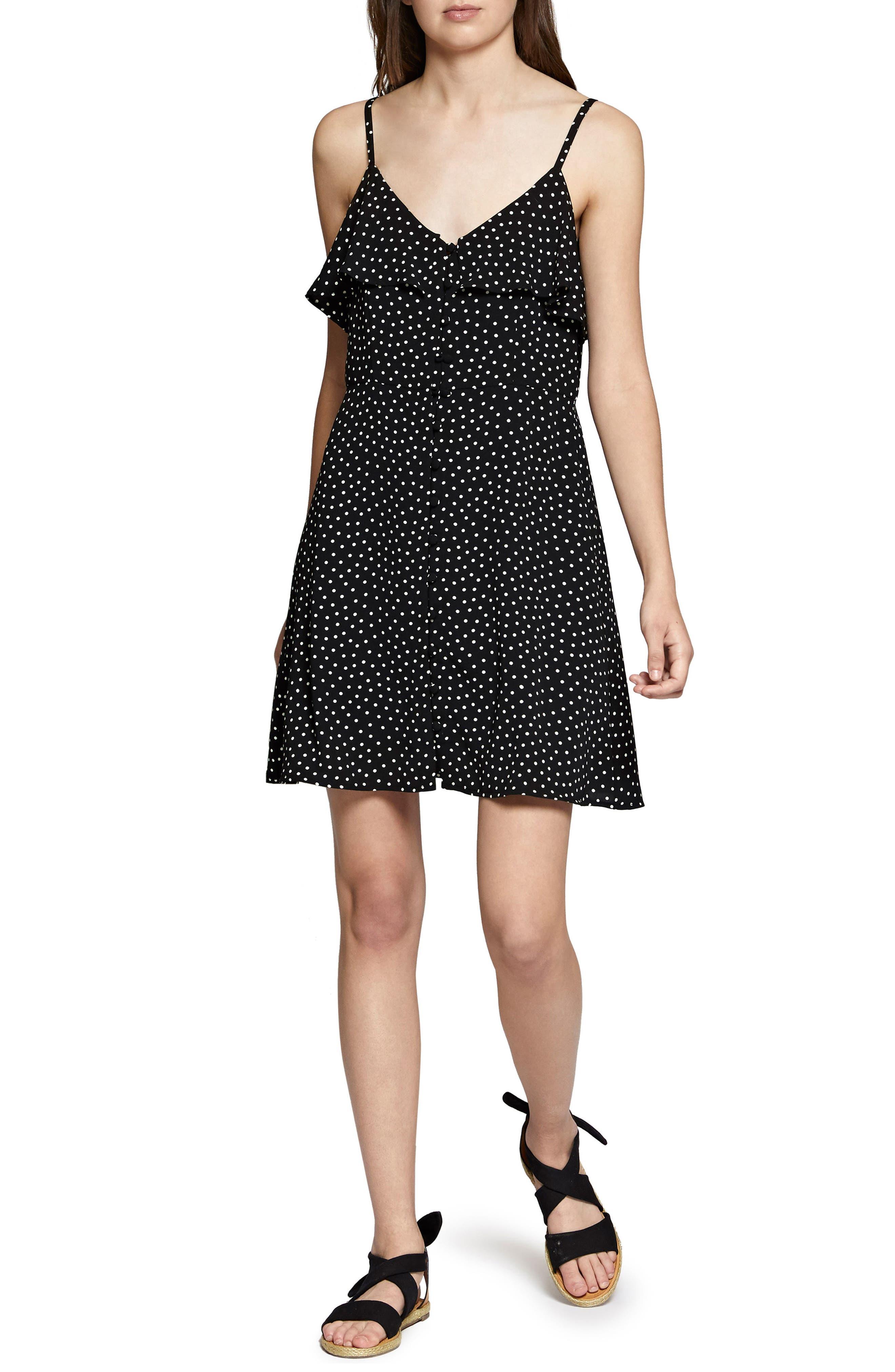 Rafaella Polka Dot Dress,                         Main,                         color, Sea Spray