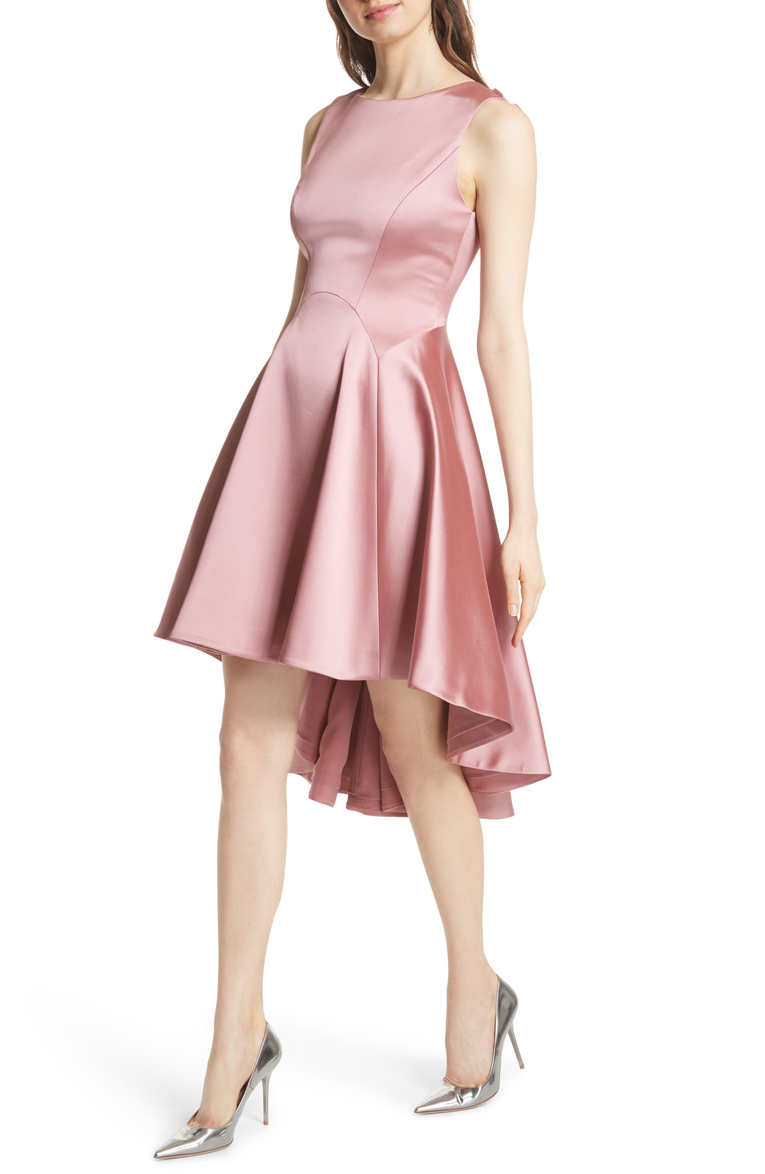 Rhubi High/Low Dress,                             Alternate thumbnail 4, color,                             Pink
