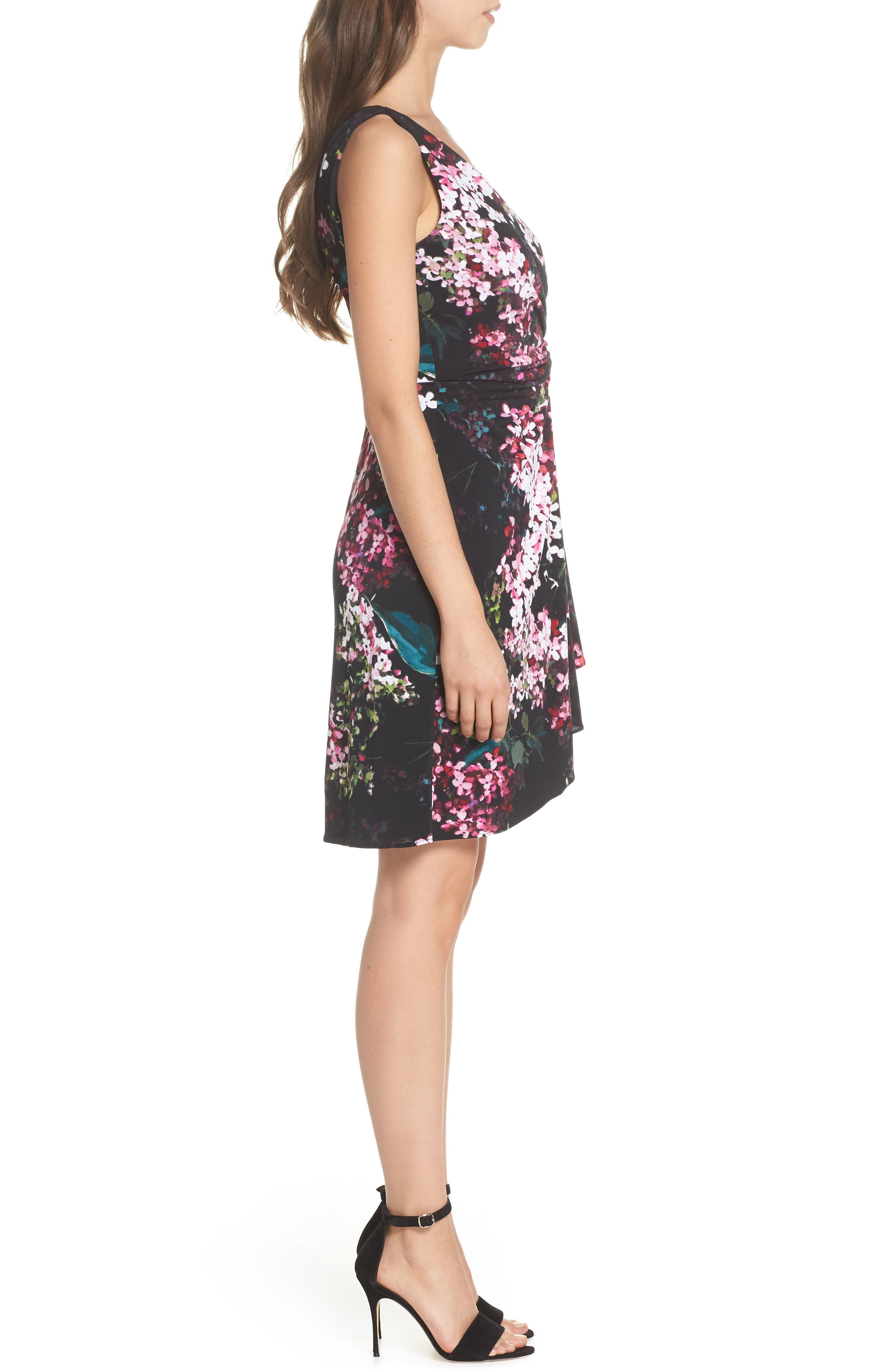 Alternate Image 3  - Adrianna Papell Floral Print Twist Front Dress
