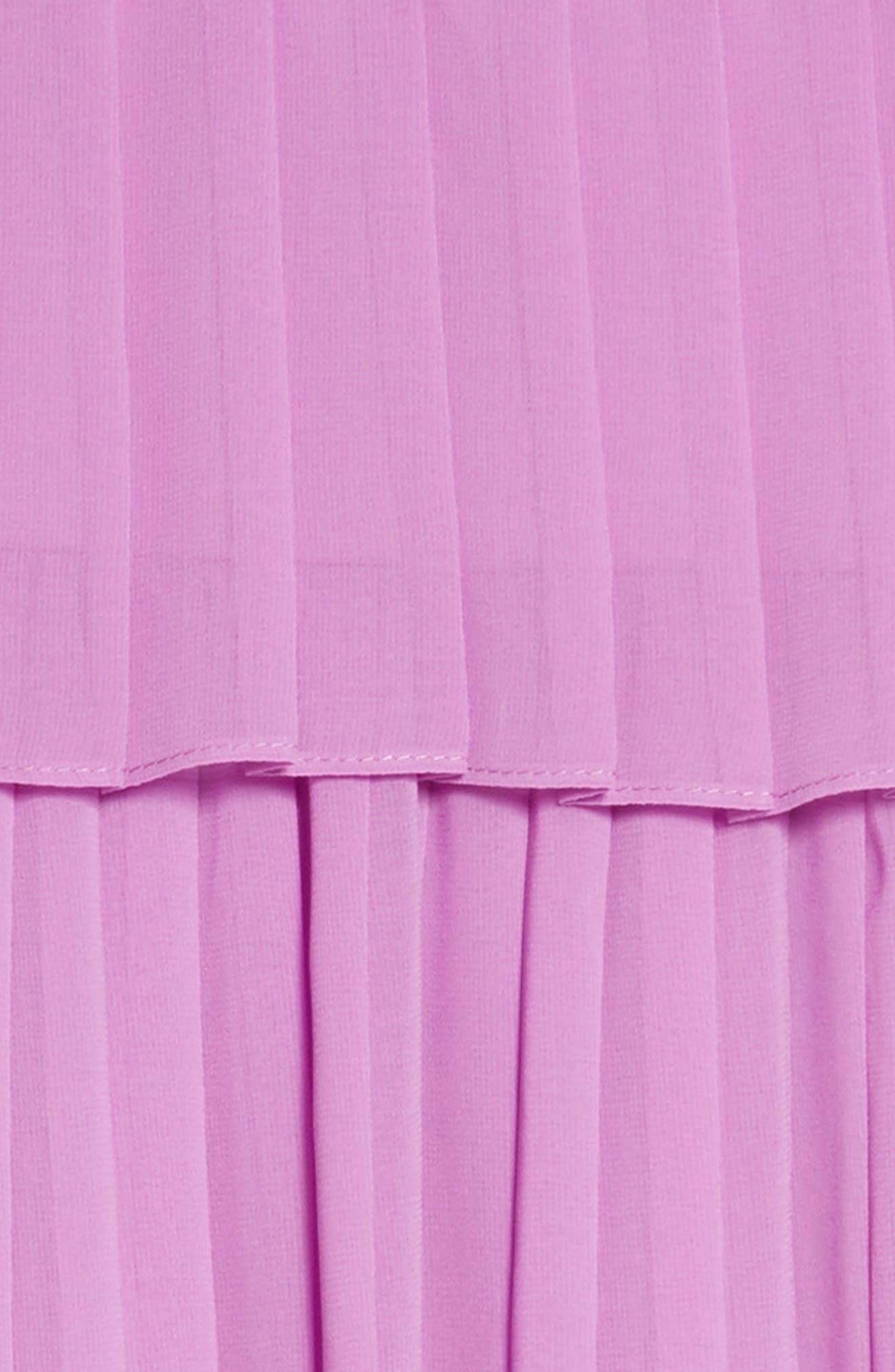 Chiffon Cold Shoulder Dress,                             Alternate thumbnail 3, color,                             Lavander
