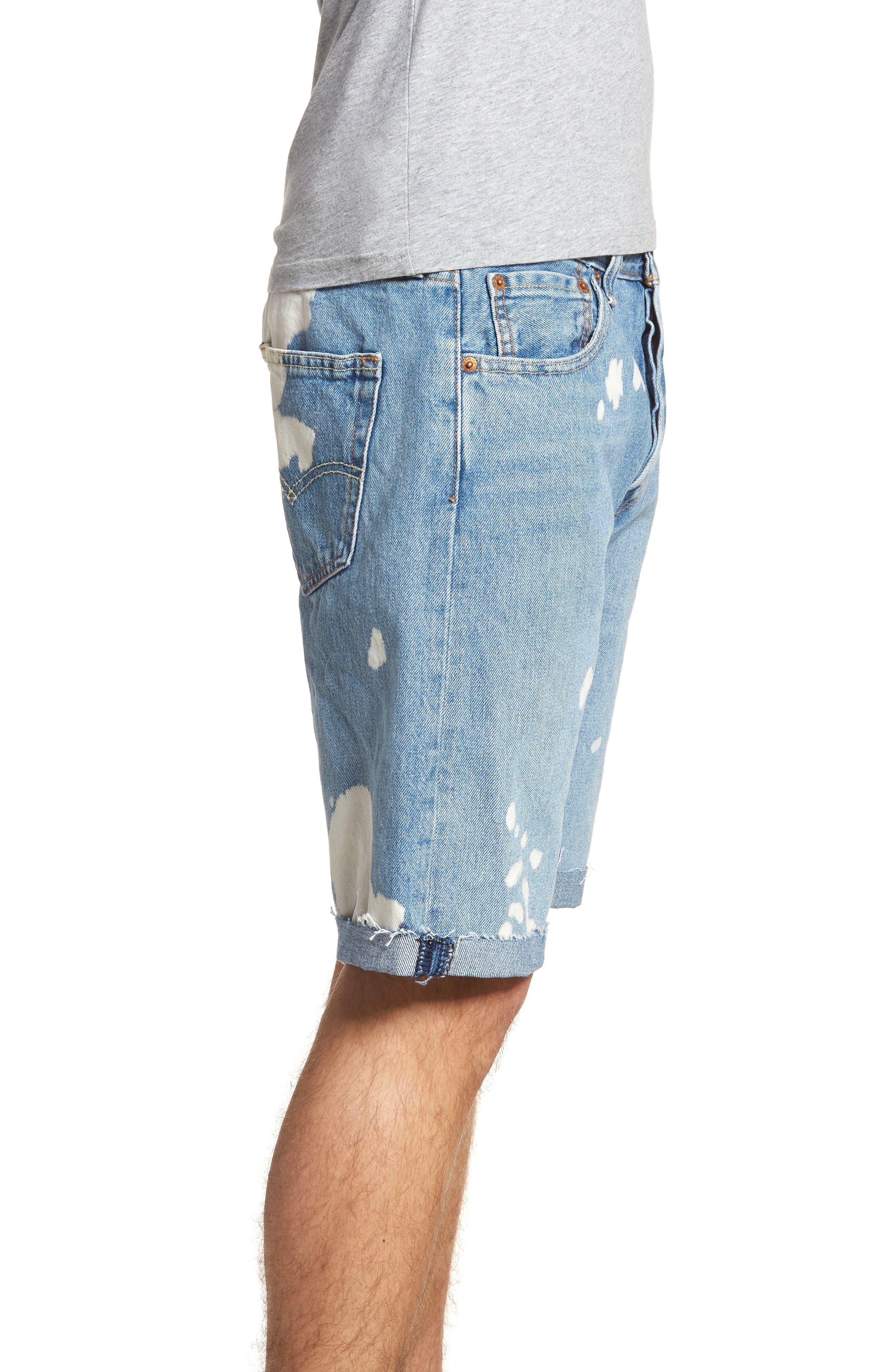 501<sup>®</sup> Cutoff Denim Shorts,                             Alternate thumbnail 3, color,                             Lifes A Bleach