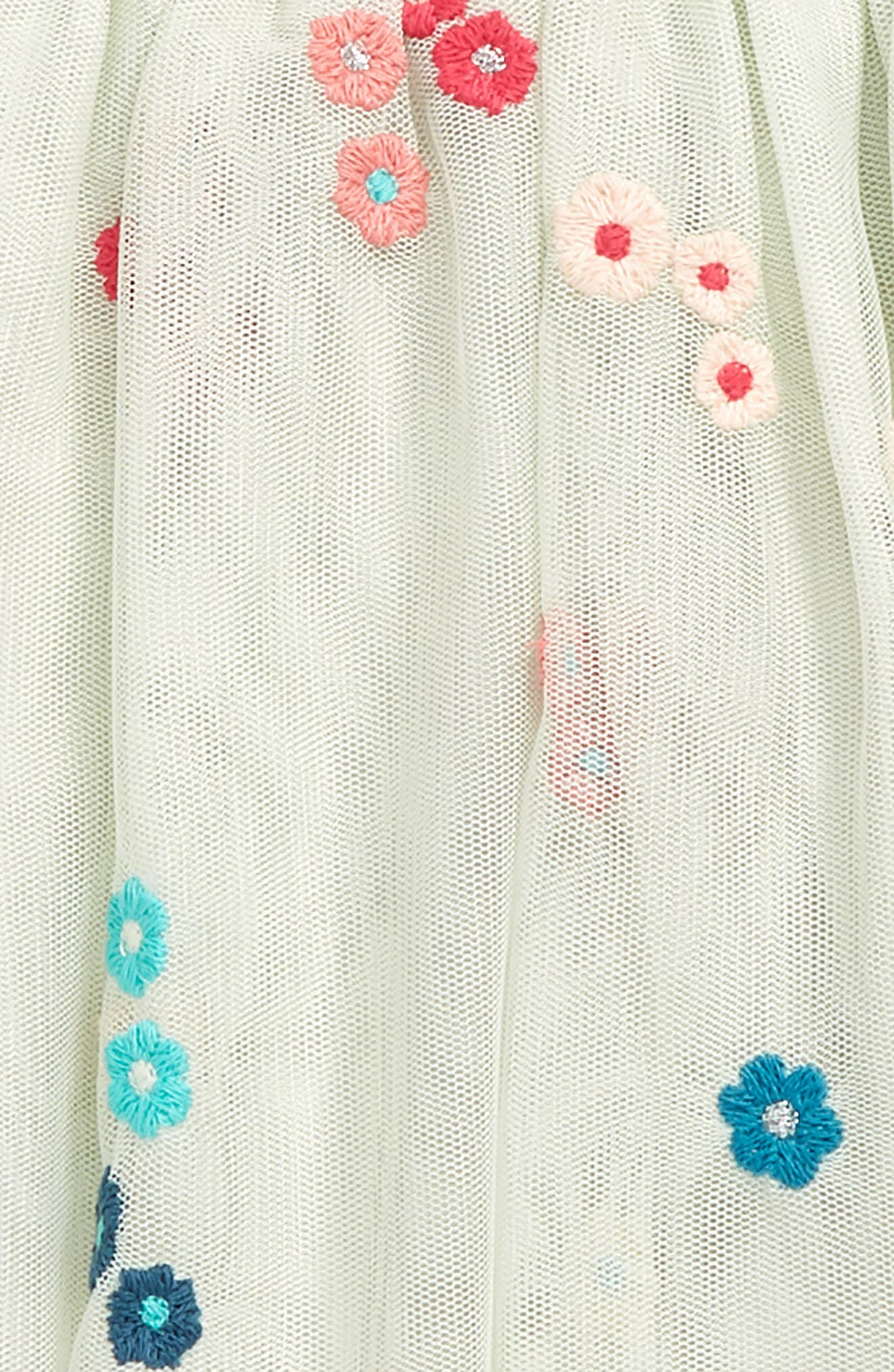 Victoria Embroidered Mesh Skirt,                             Alternate thumbnail 2, color,                             Mint
