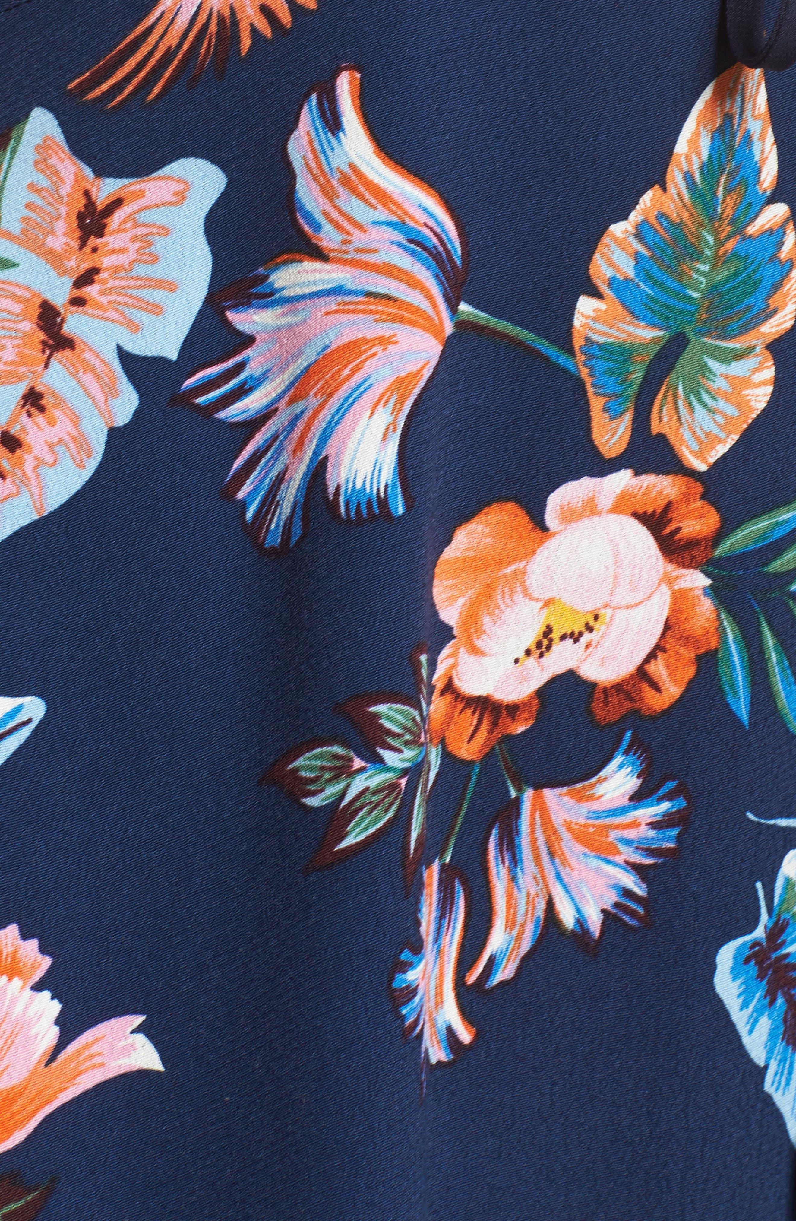 Gianna High/Low Hem Sundress,                             Alternate thumbnail 6, color,                             Navy Multi