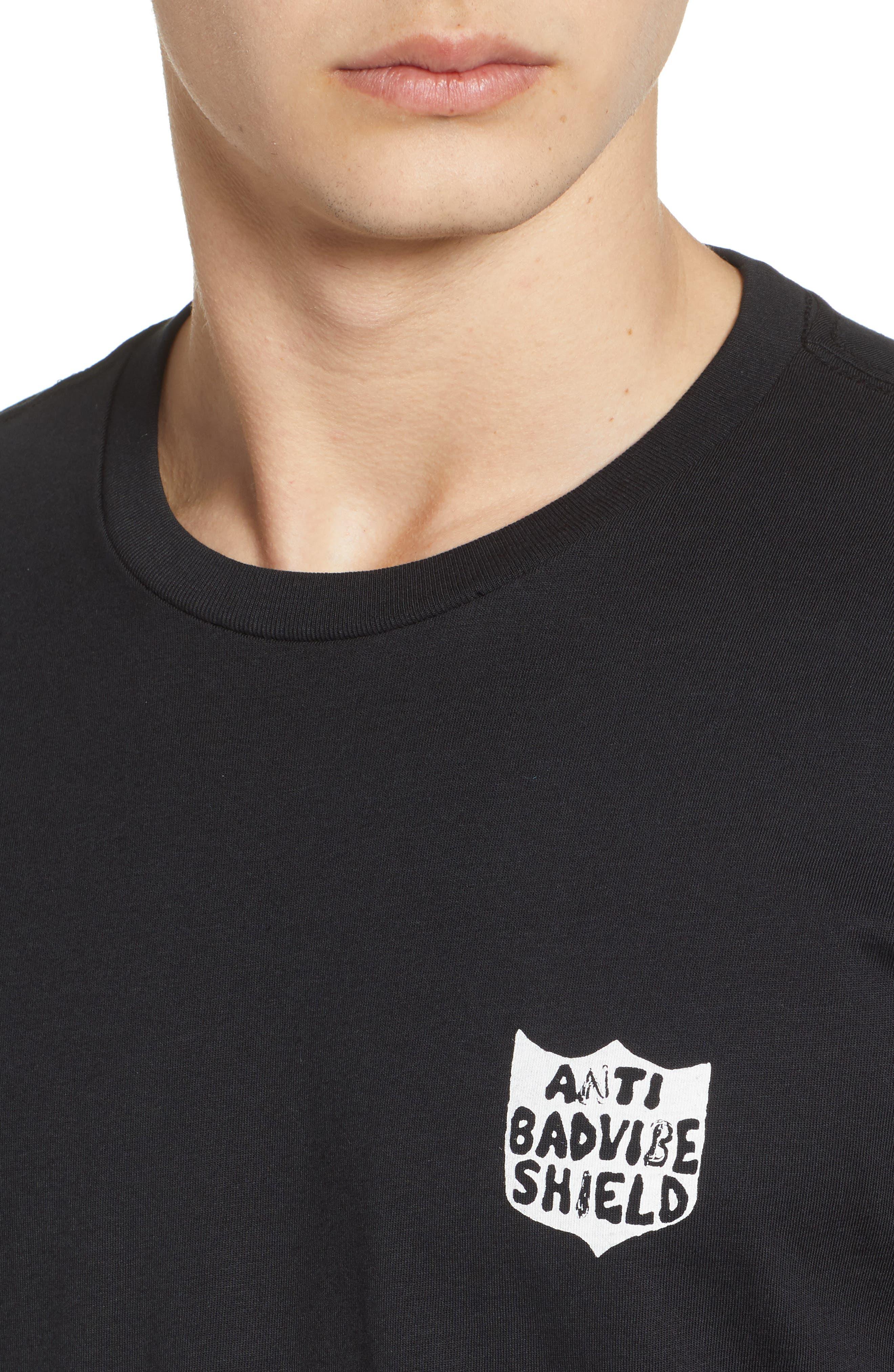New Shield Graphic T-Shirt,                             Alternate thumbnail 4, color,                             Black