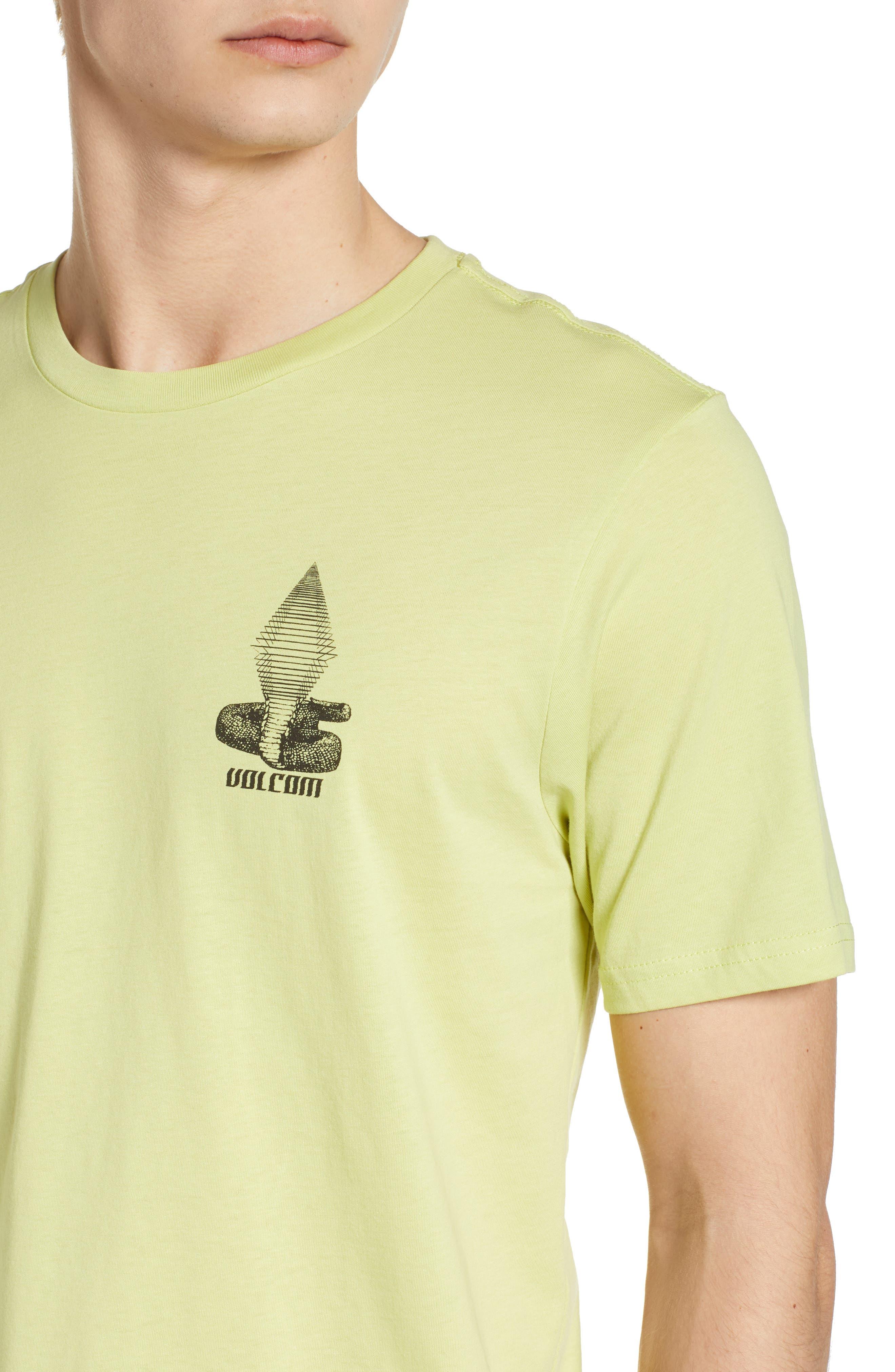 Digital Poison Graphic T-Shirt,                             Alternate thumbnail 4, color,                             Lime