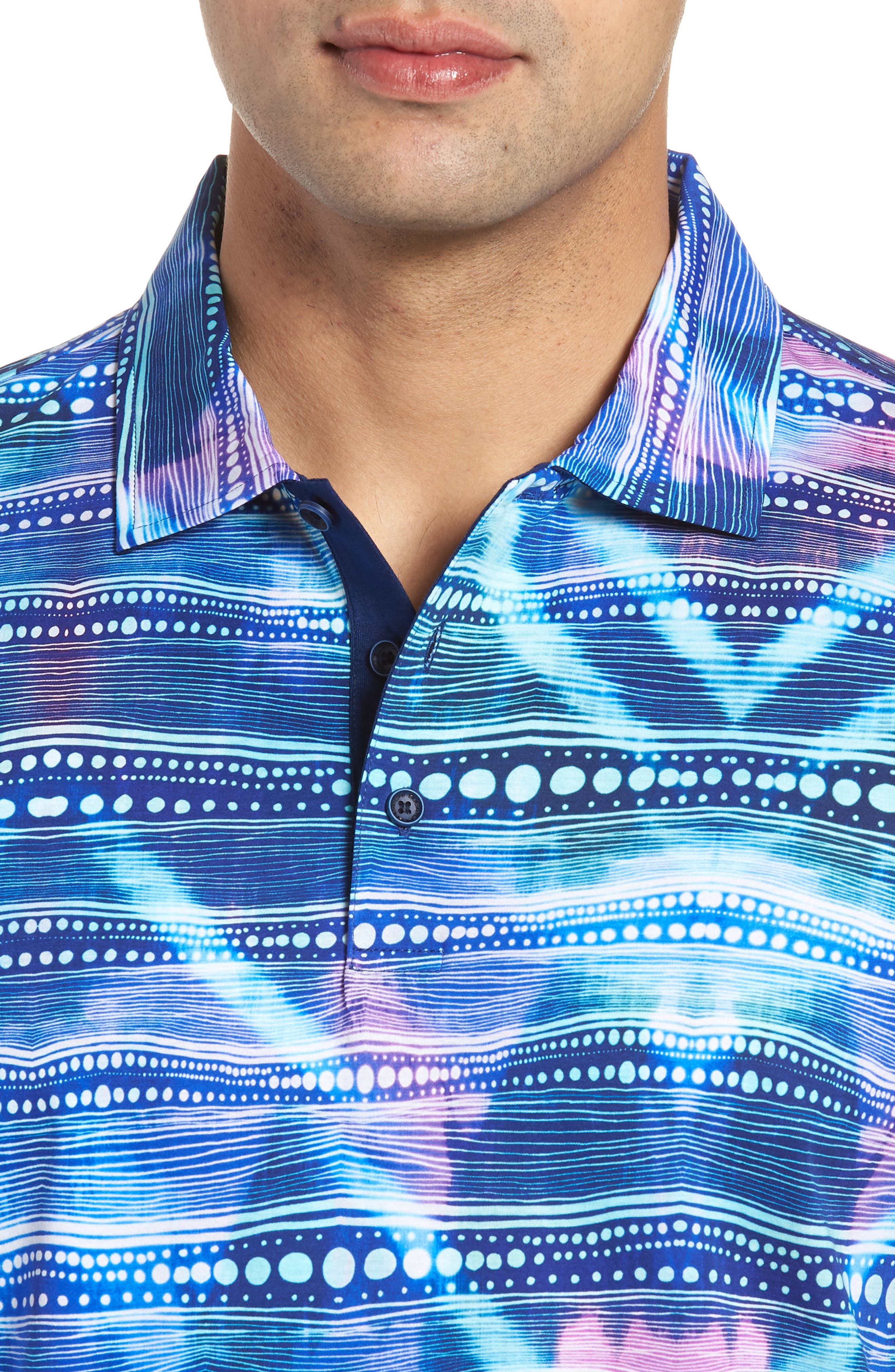 Knit Polo,                             Alternate thumbnail 4, color,                             Turquoise