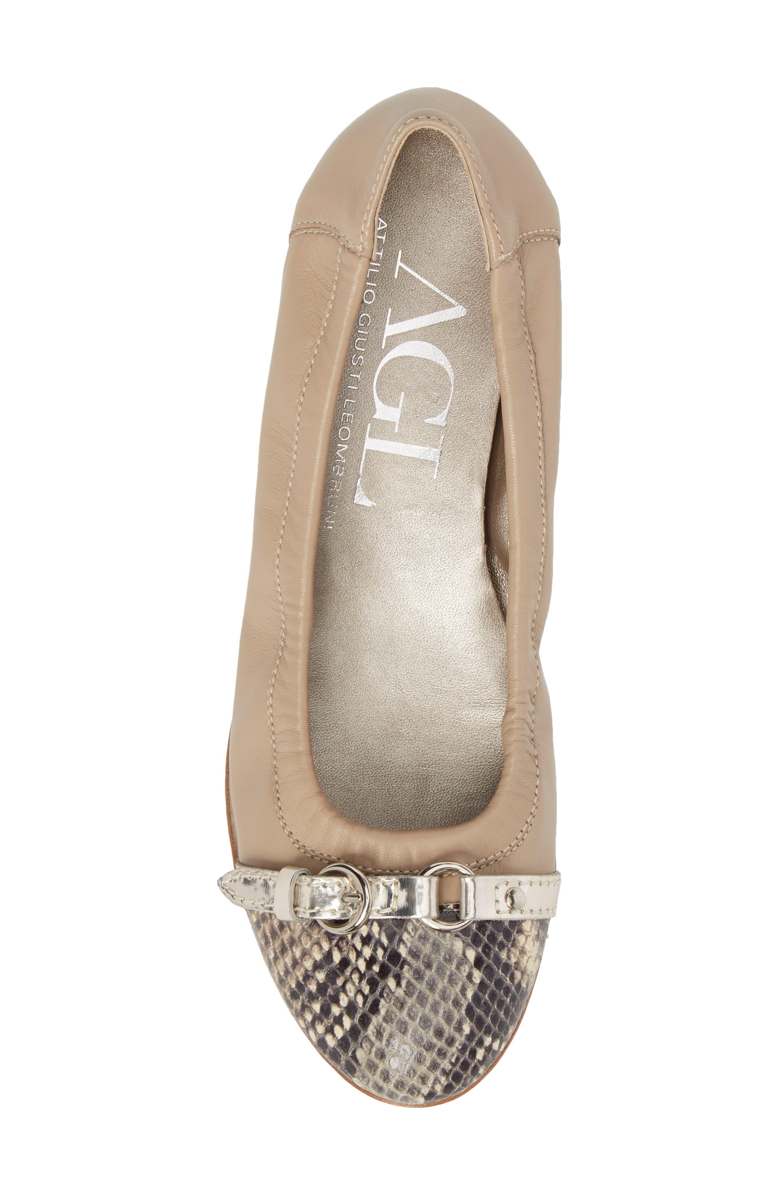 Alternate Image 5  - AGL Cap Toe Ballet Flat (Women)