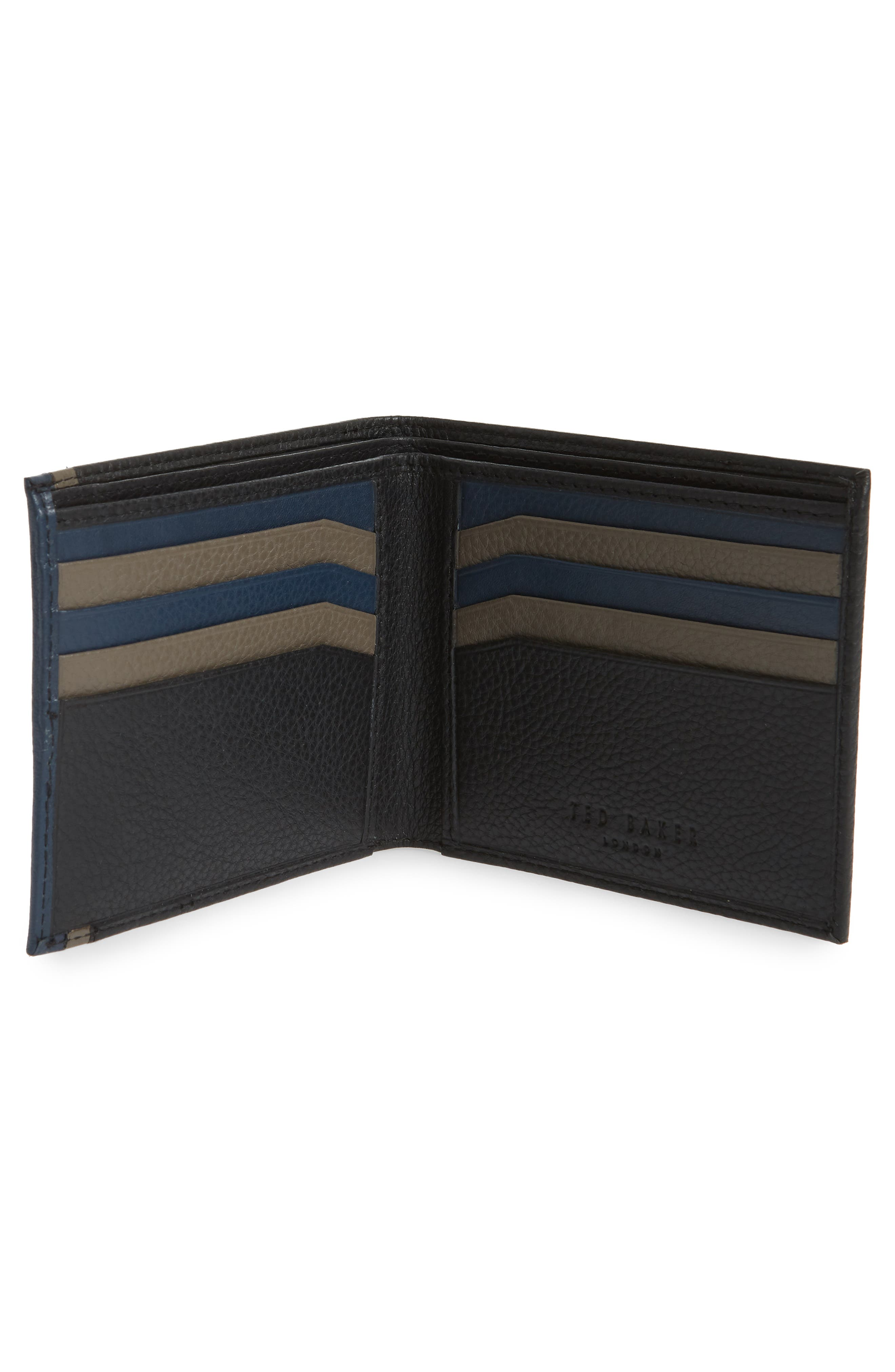 Alternate Image 2  - Ted Baker London Snapper Colored Leather Wallet