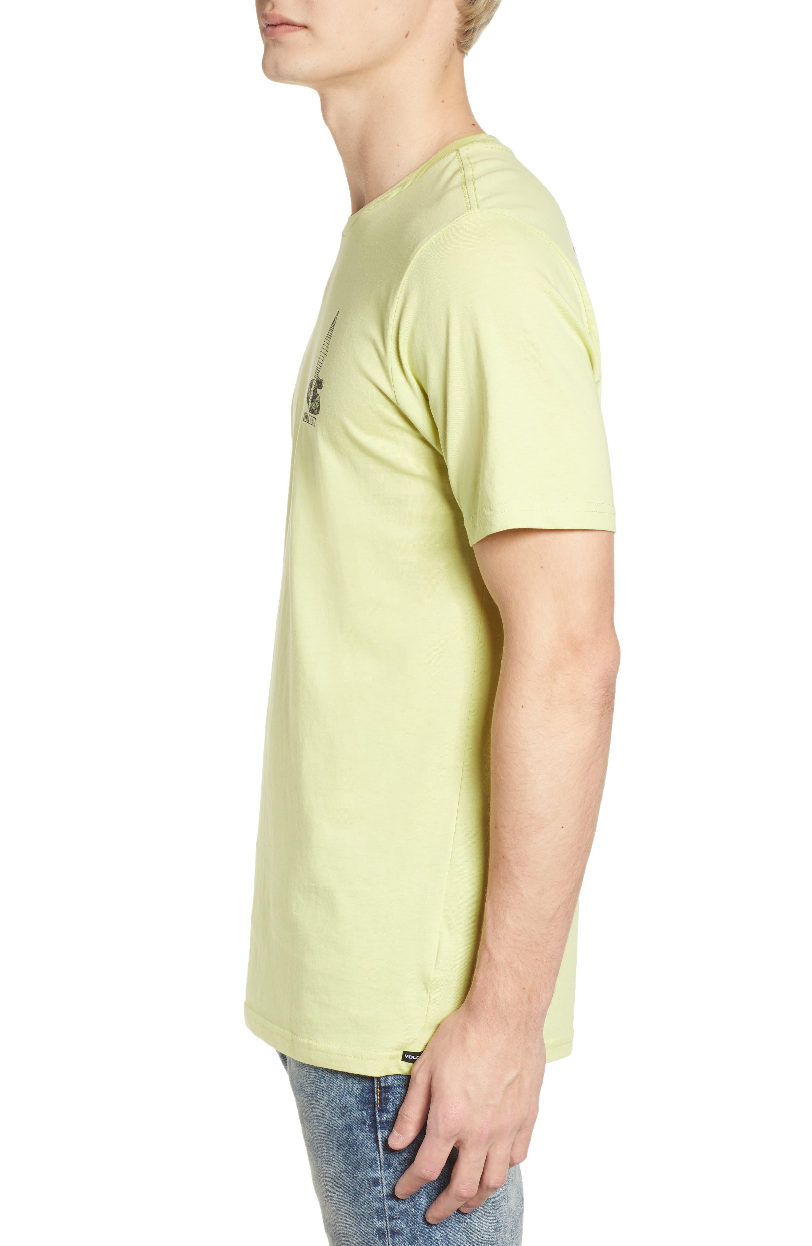 Digital Poison Graphic T-Shirt,                             Alternate thumbnail 3, color,                             Lime