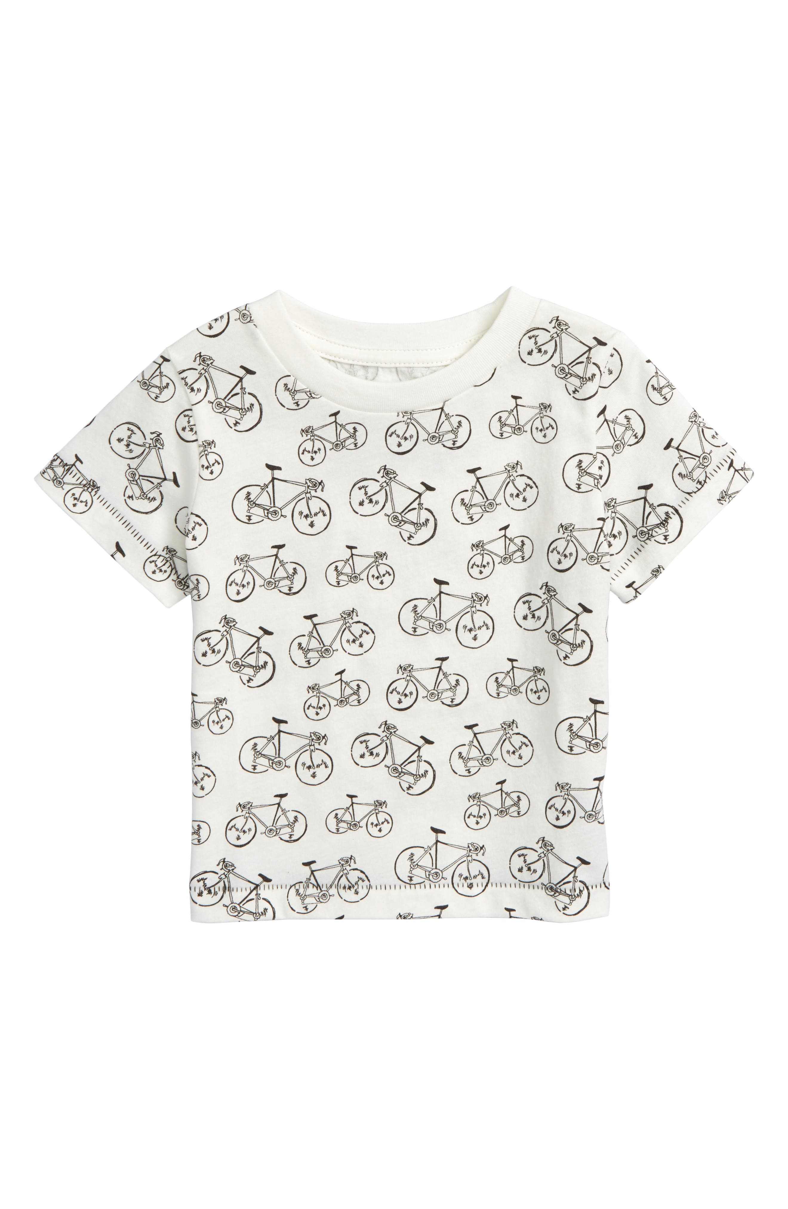Allover Bike Graphic T-Shirt,                             Main thumbnail 1, color,                             Ivory