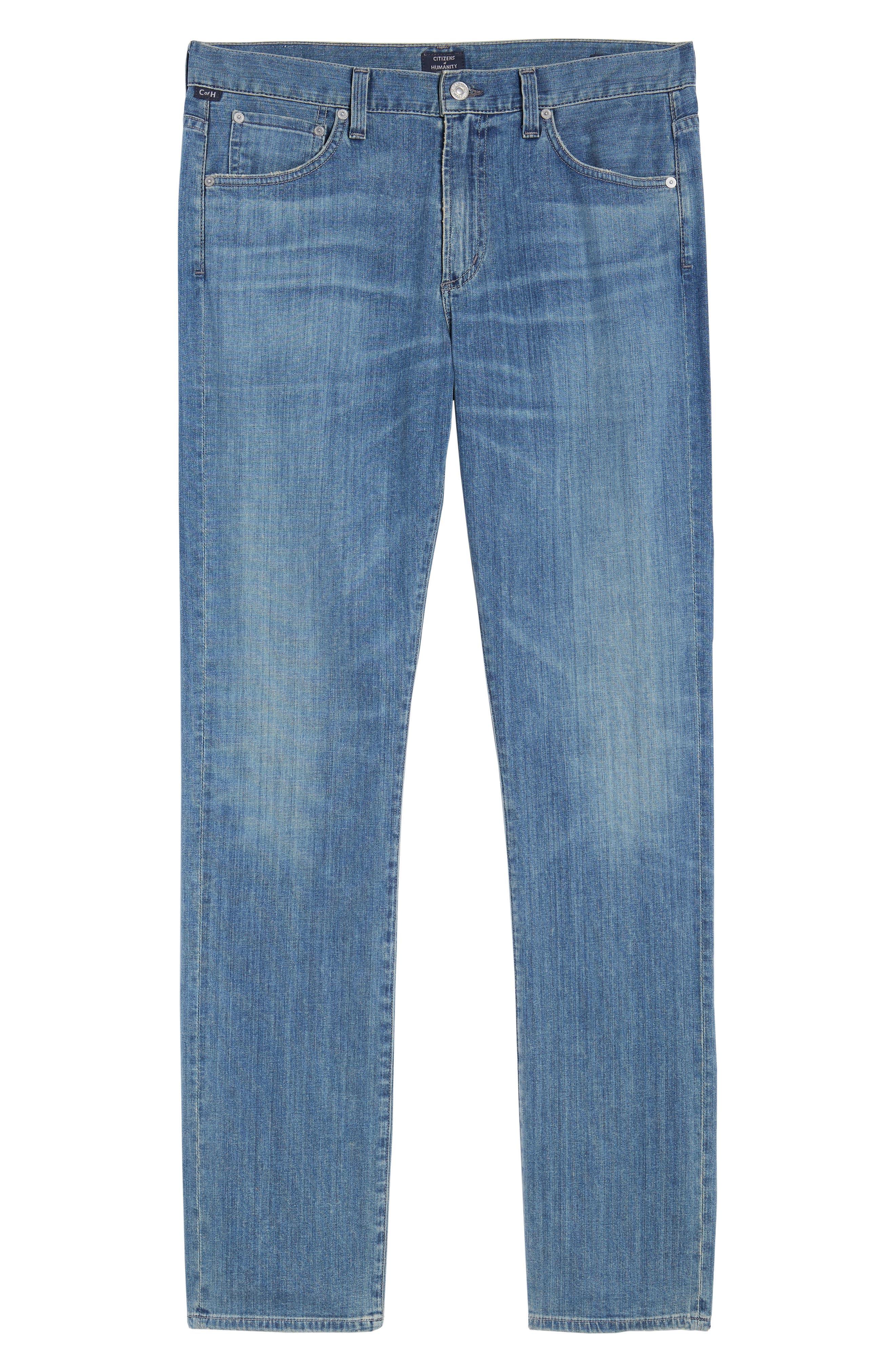 Gage Slim Straight Leg Jeans,                             Alternate thumbnail 6, color,                             Costa