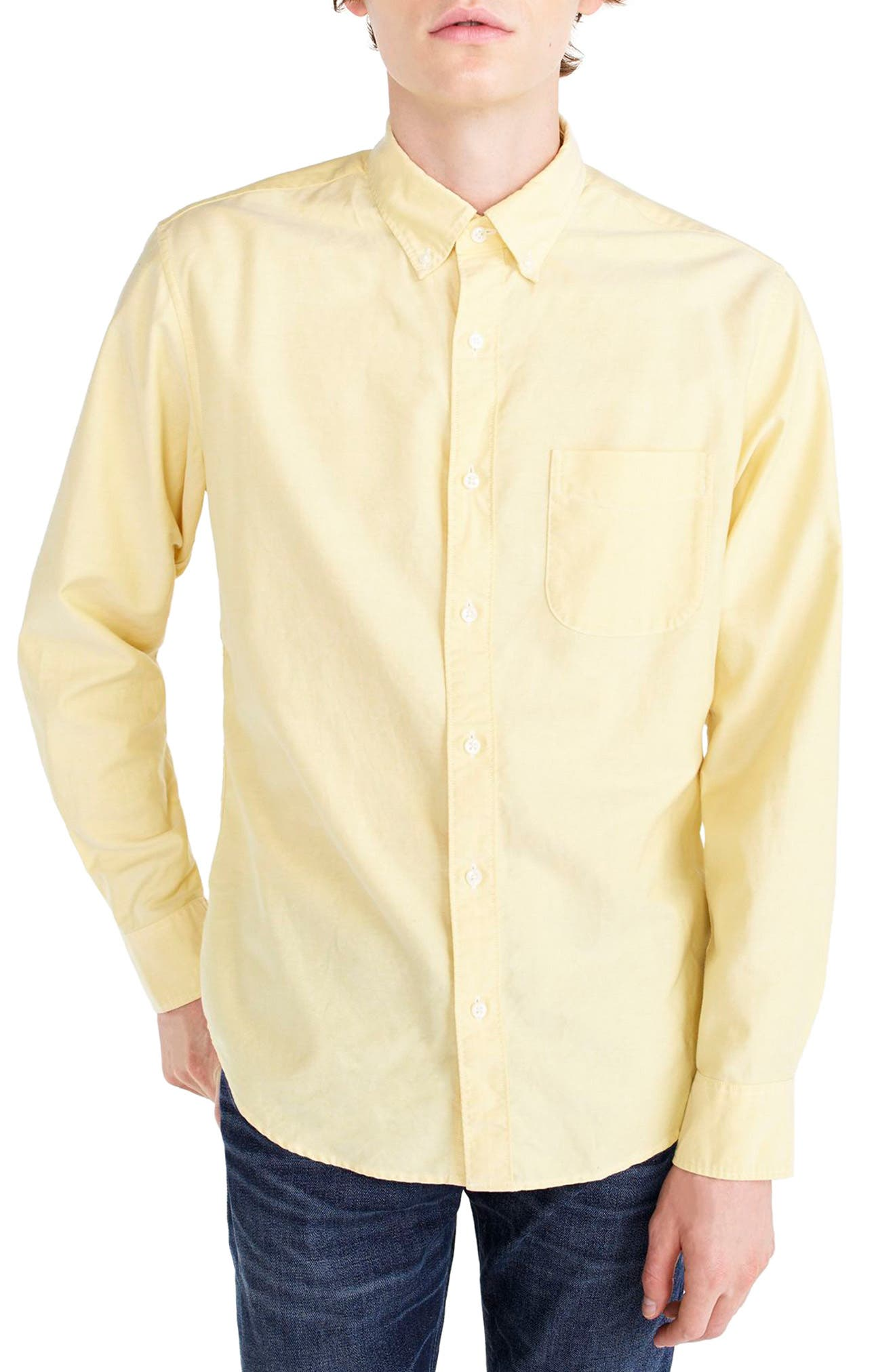 J.Crew Classic Fit Stretch Pima Cotton Oxford Shirt