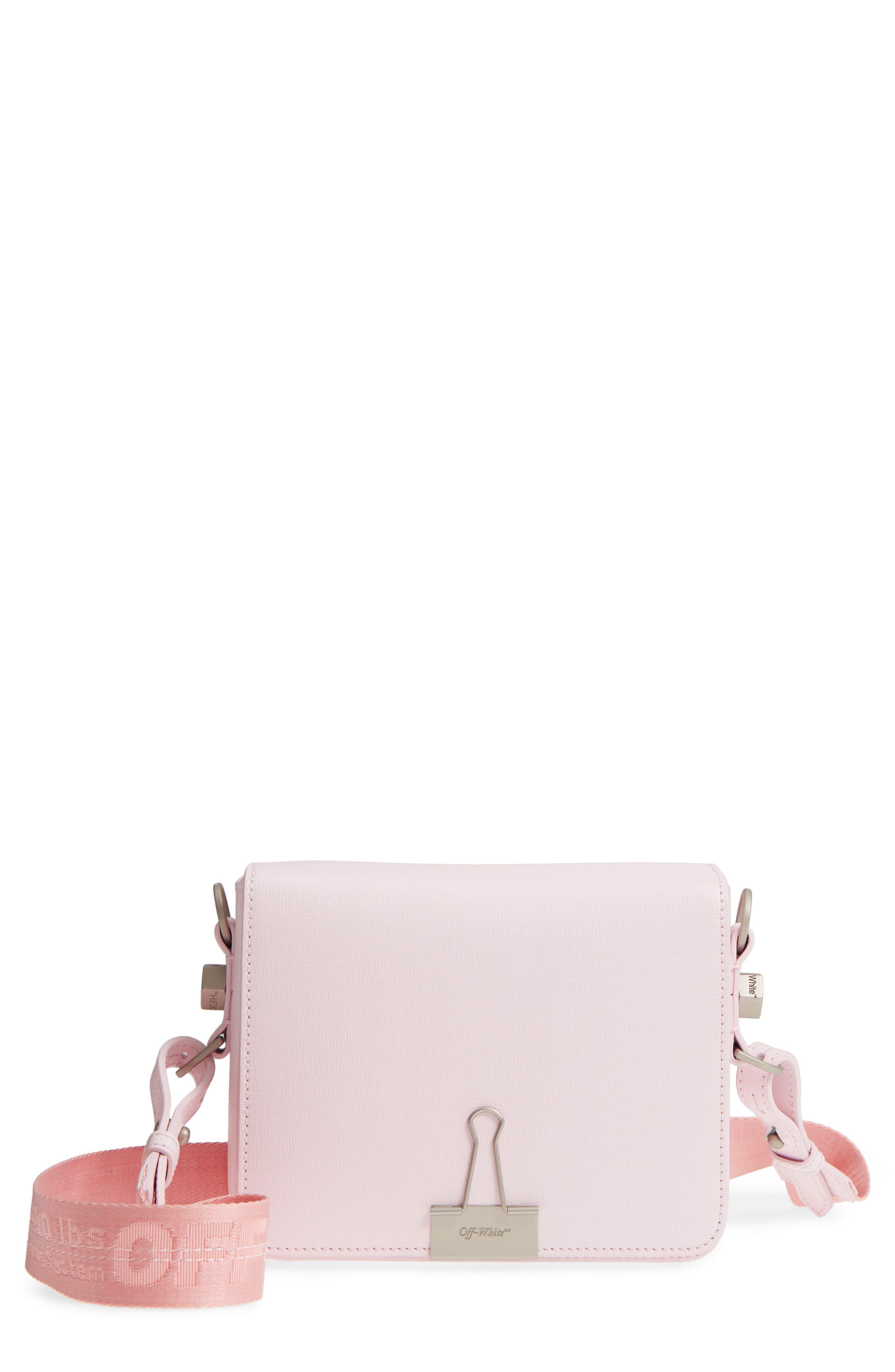 Off-White Binder Clip Leather Flap Bag