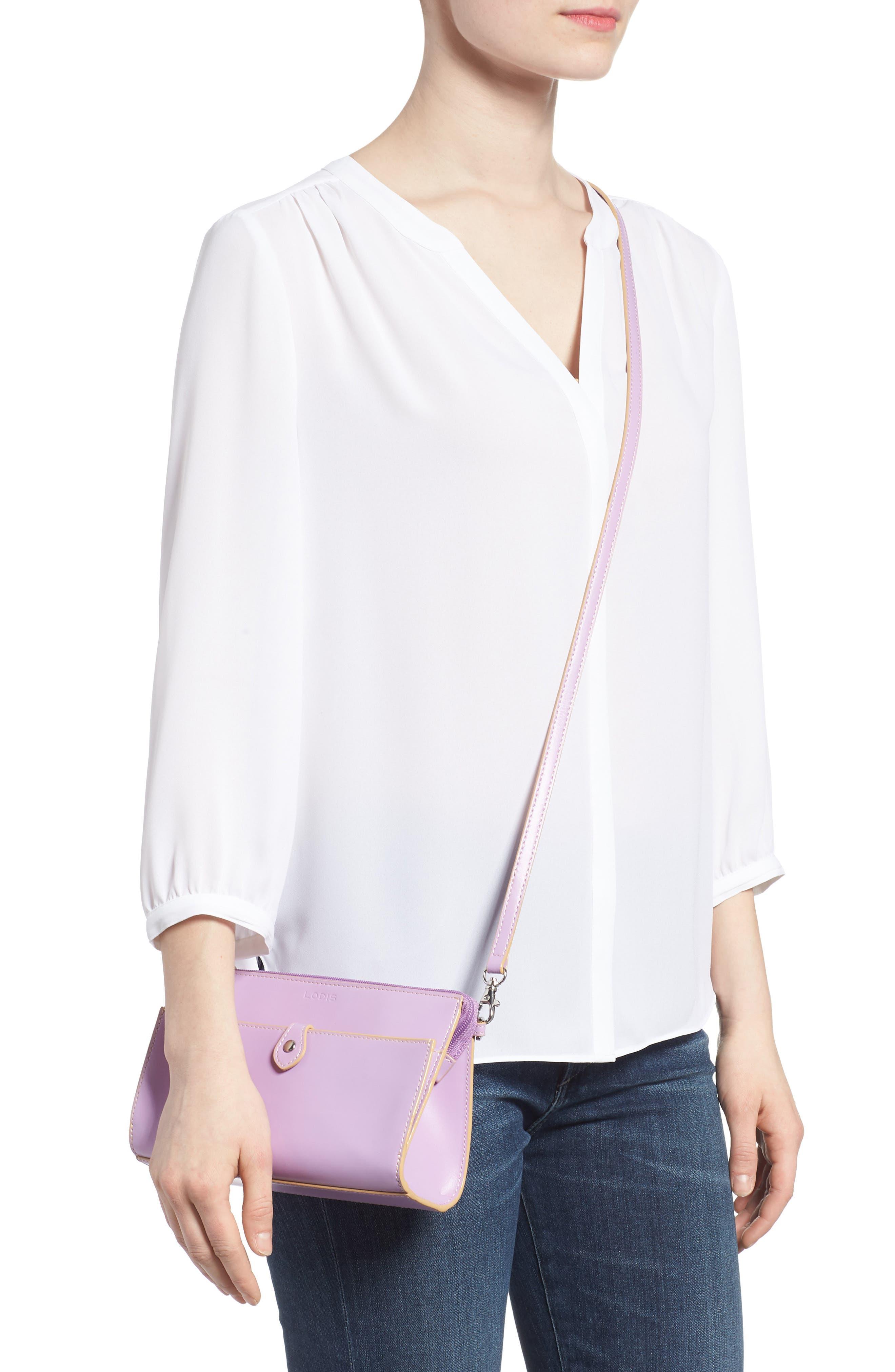 Alternate Image 2  - LODIS Los Angeles Audrey Under Lock & Key Vicky Convertible Leather Crossbody Bag