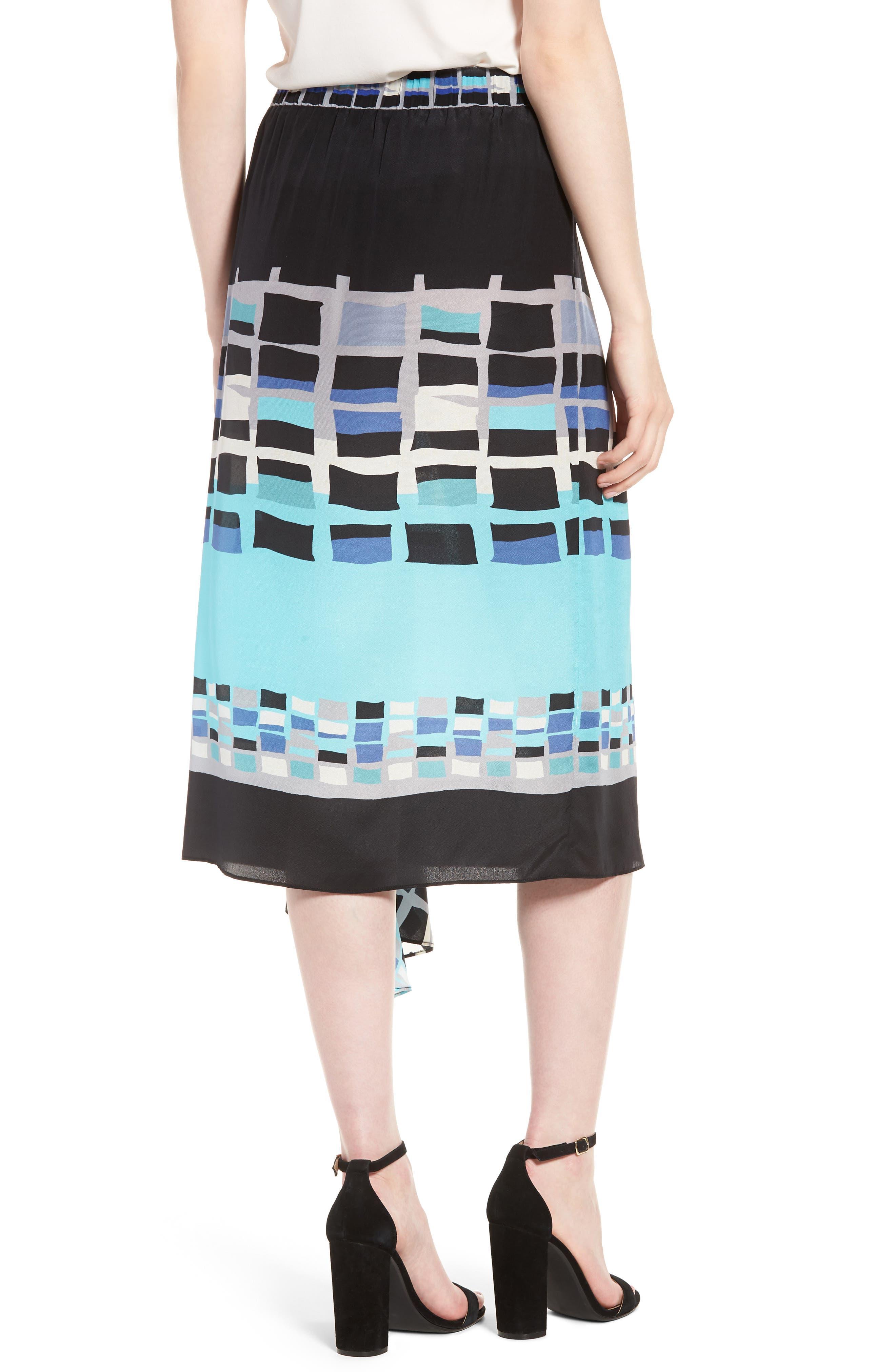 From Above Silk Blend Skirt,                             Alternate thumbnail 2, color,                             Multi