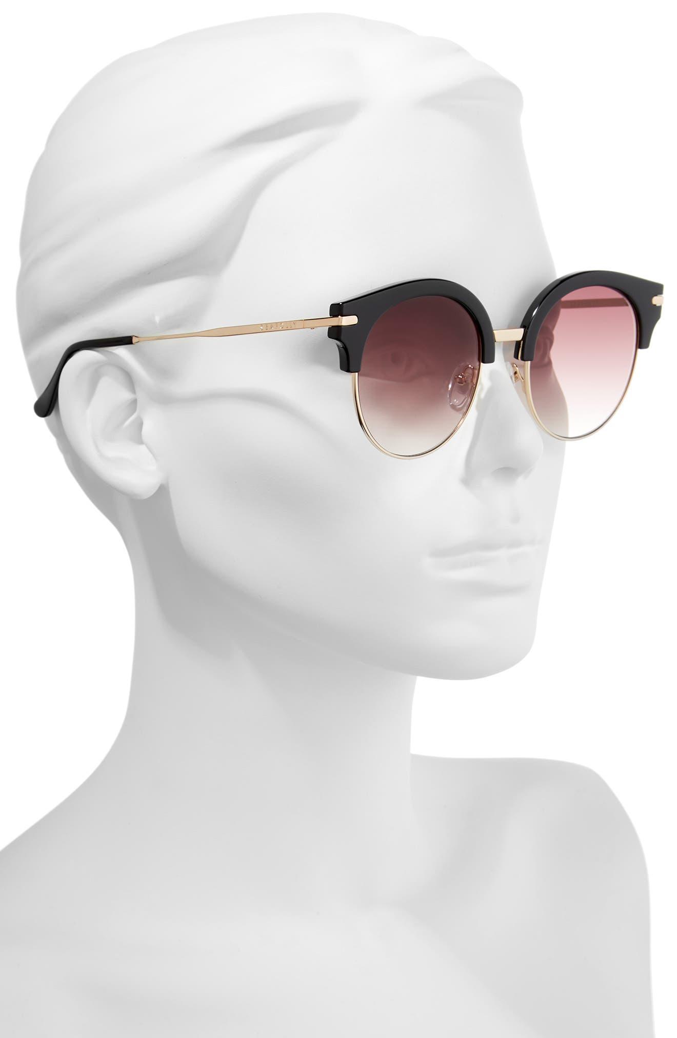 San Diego 52mm Cat Eye Sunglasses,                             Alternate thumbnail 2, color,                             Black