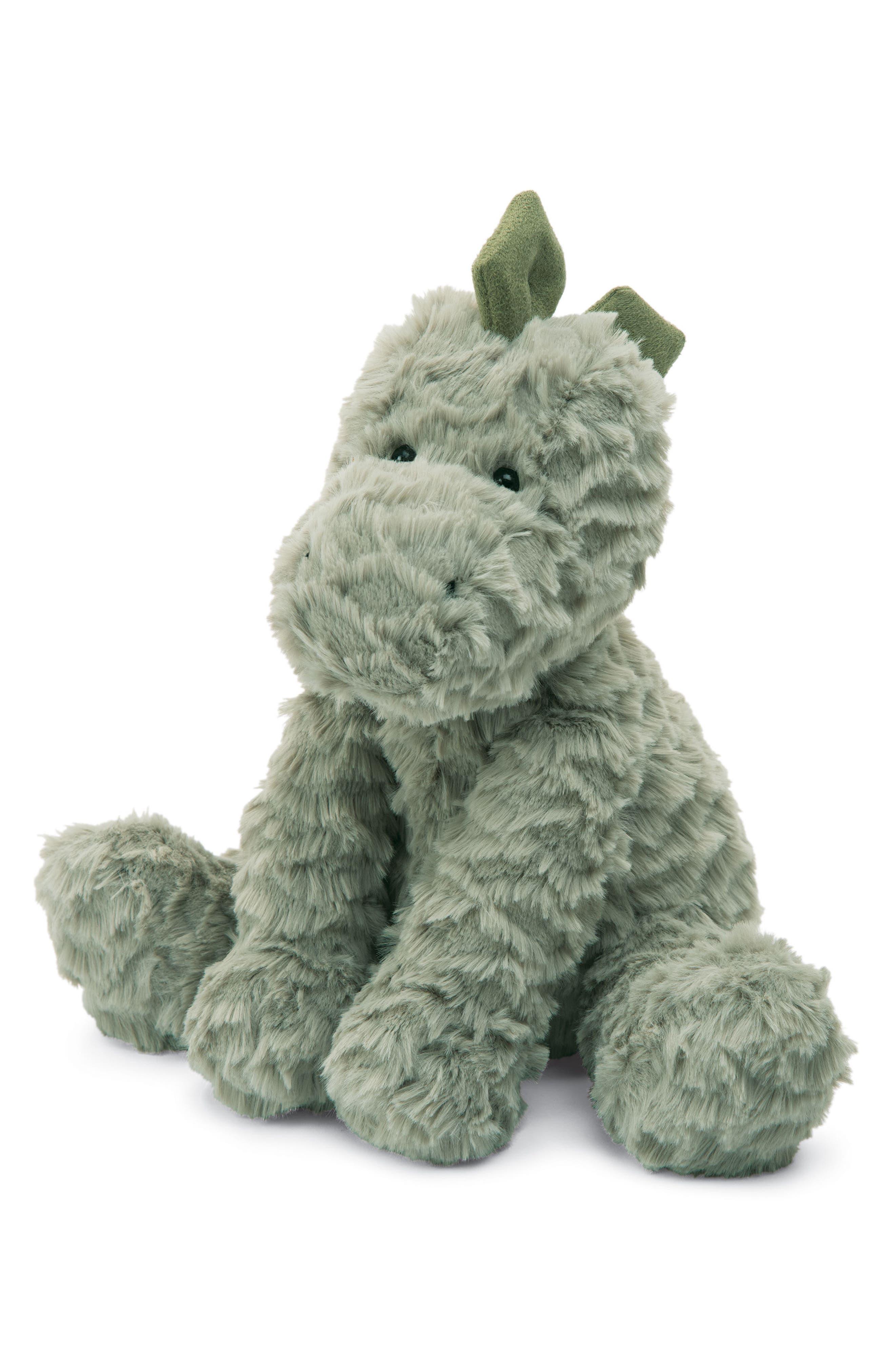 Fuddlewuddle Dino Stuffed Animal,                             Main thumbnail 1, color,                             Green
