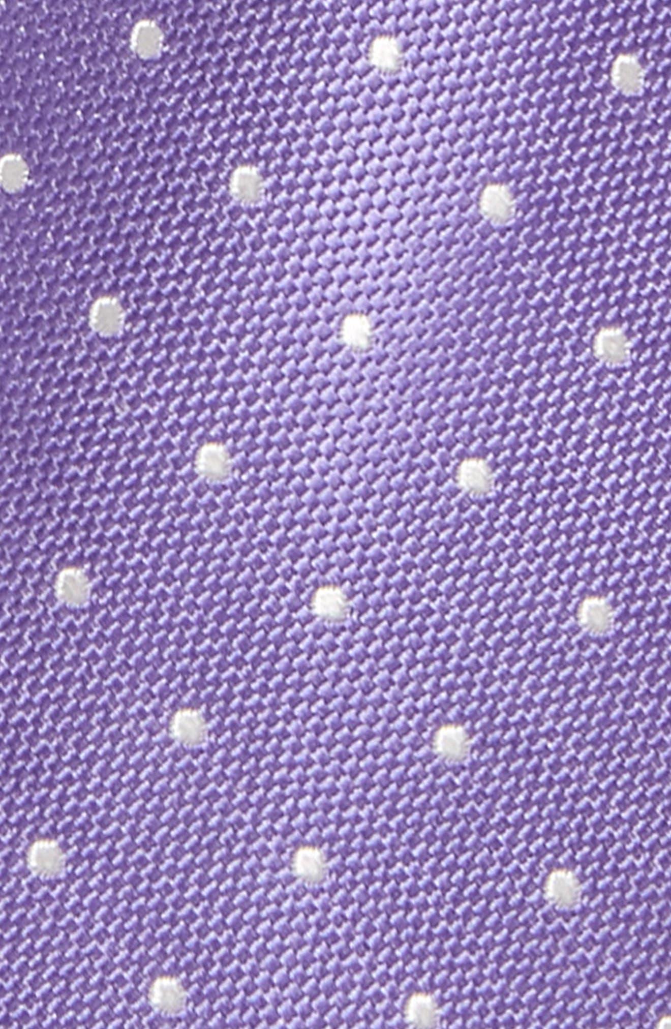 Dainty Dot Silk Tie,                             Alternate thumbnail 2, color,                             Purple