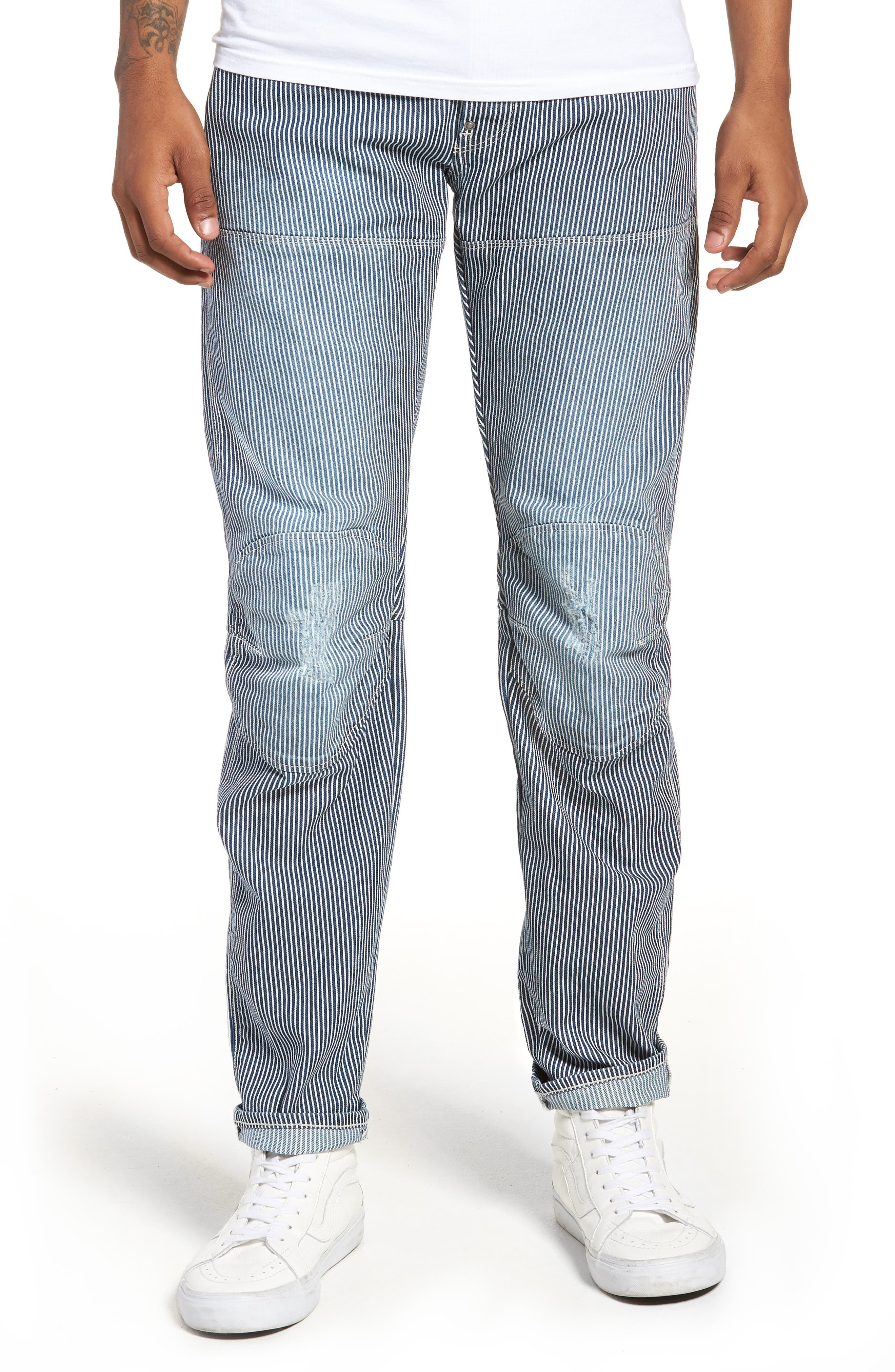3D Slim Pants,                             Main thumbnail 1, color,                             Medium Aged Destroy