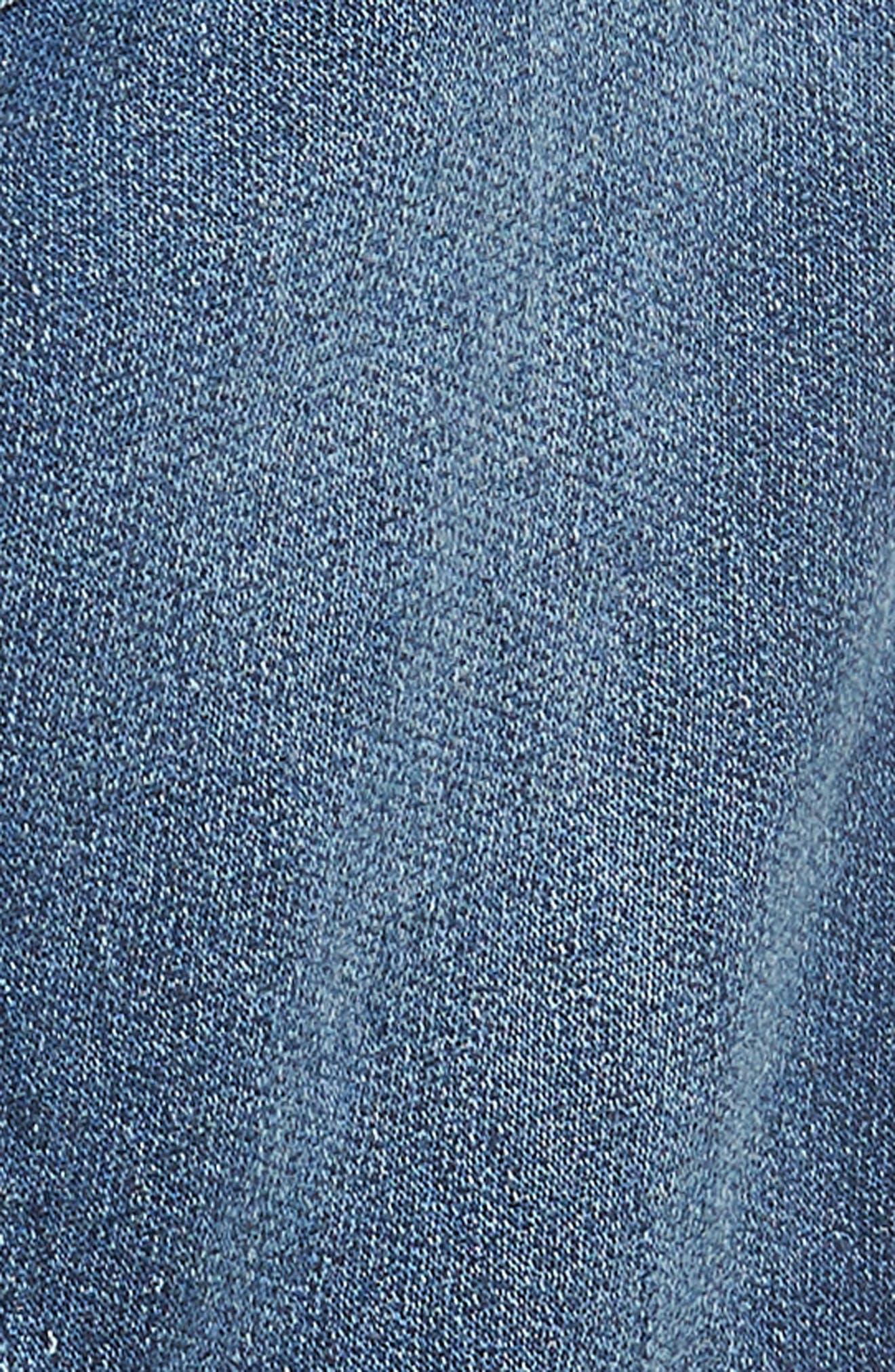 Krooshort Denim Shorts,                             Alternate thumbnail 5, color,                             0687C