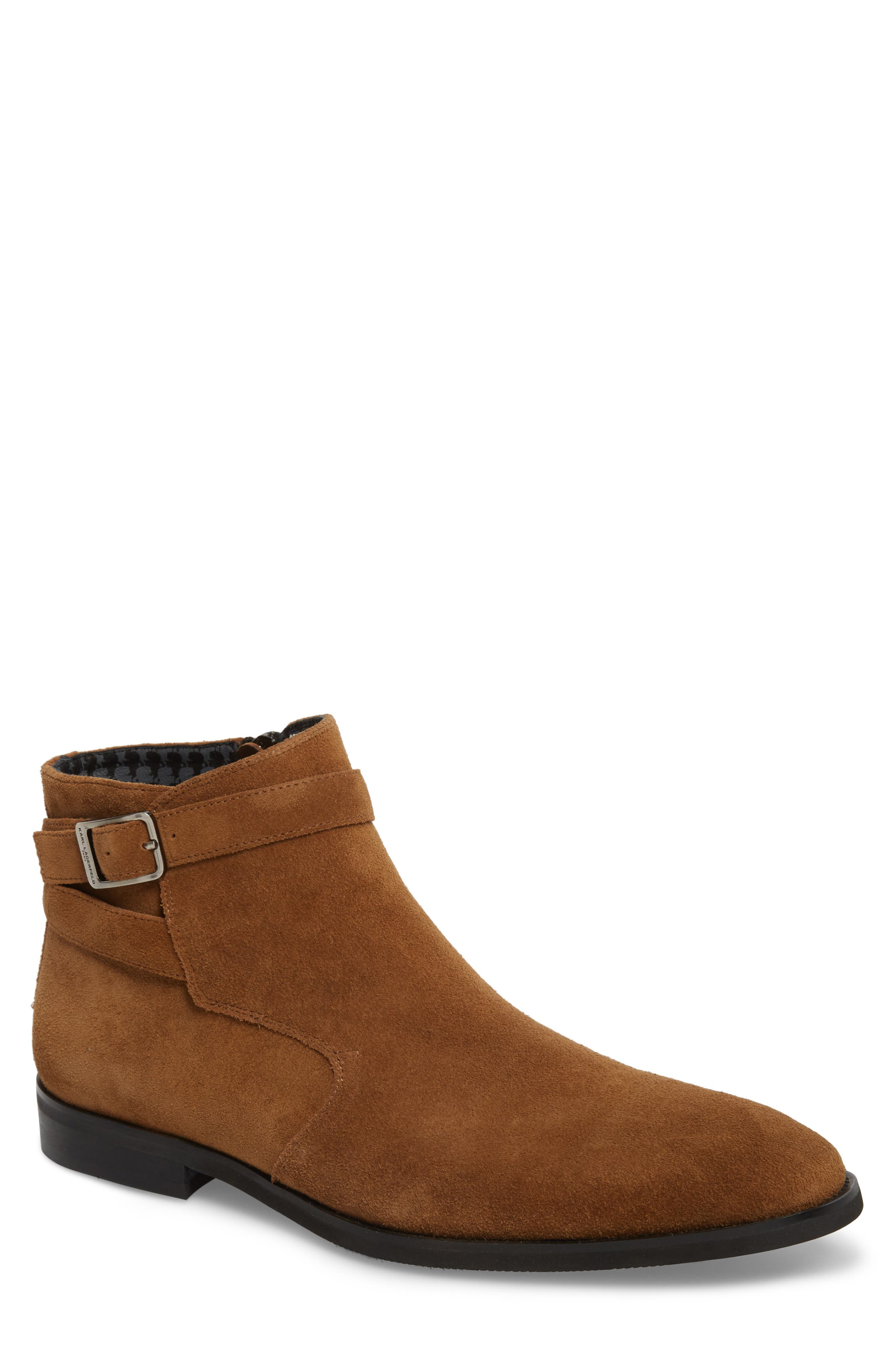 Karl Lagerfeld Paris Ankle Wrap Boot (Men)