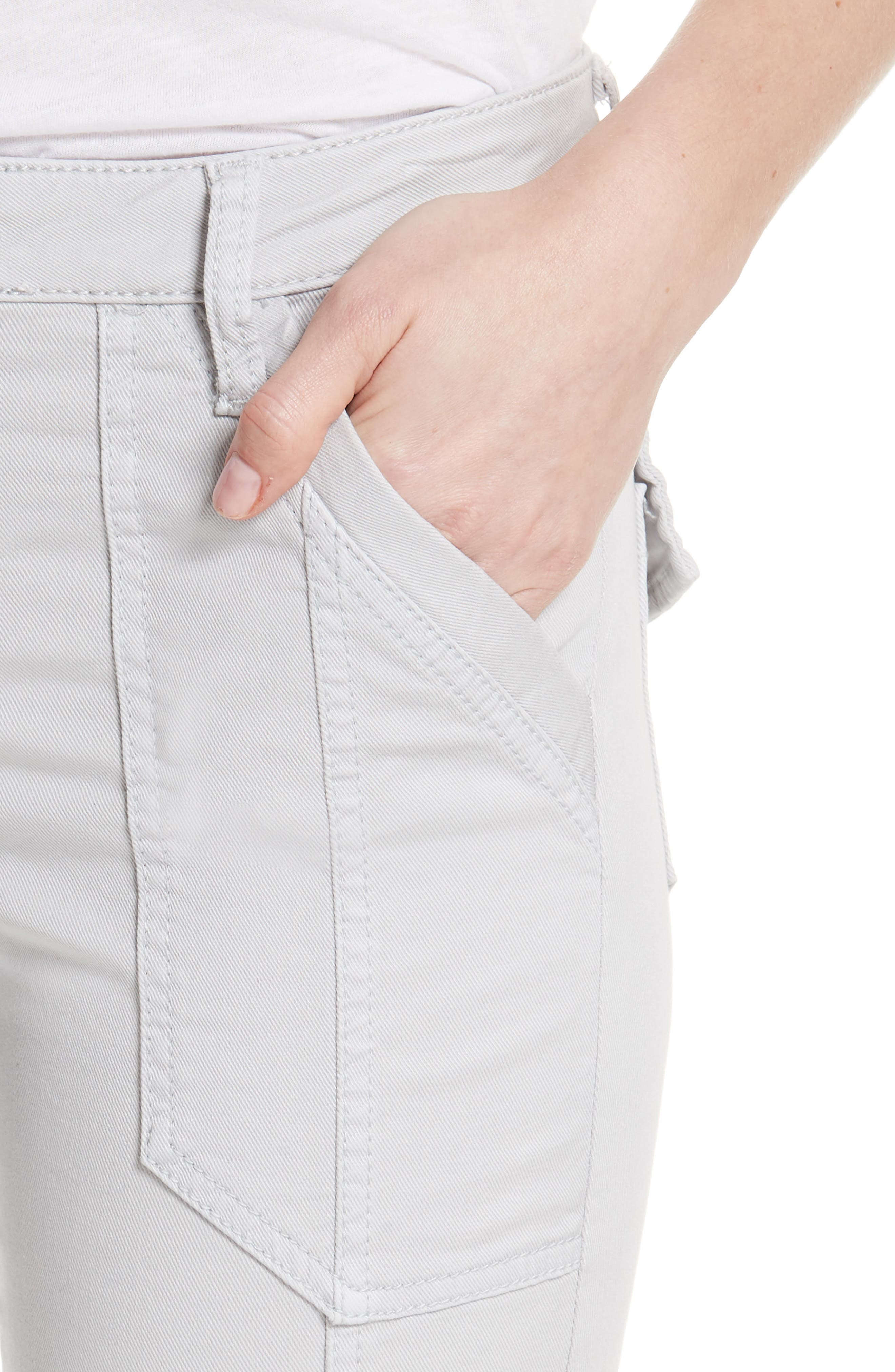 Okana Skinny Cargo Pants,                             Alternate thumbnail 4, color,                             Soft Cement