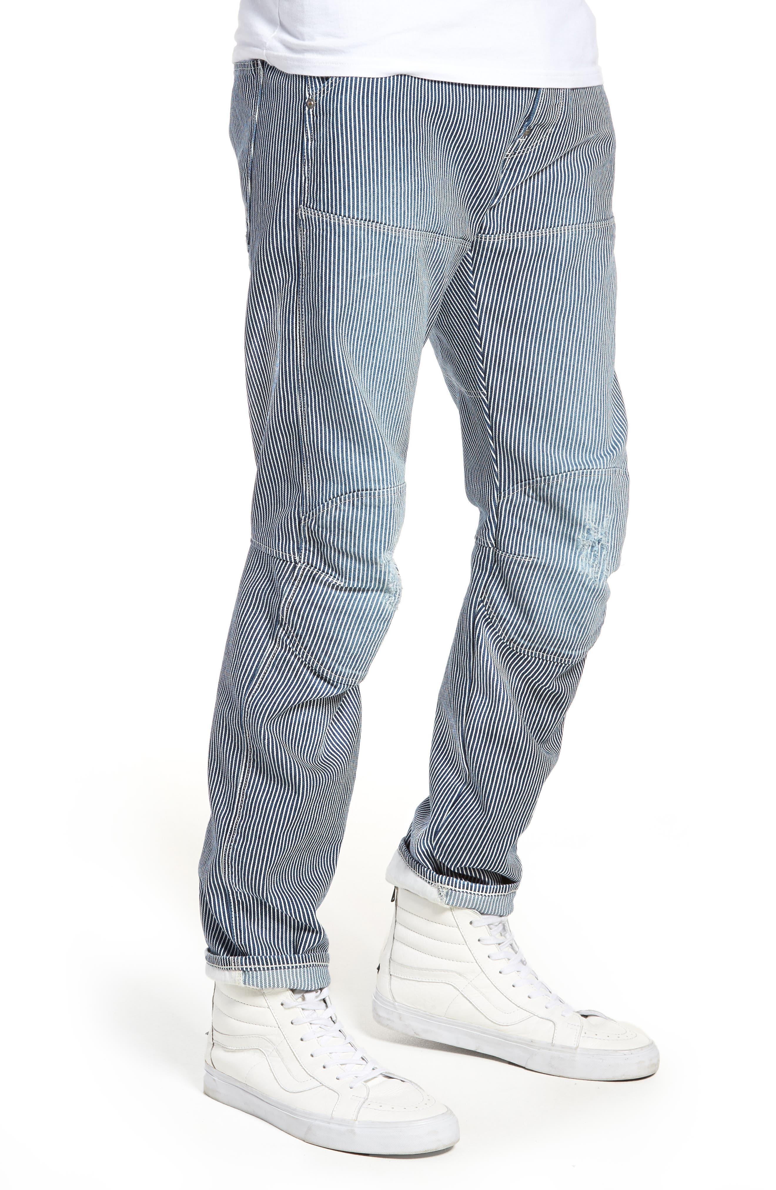 3D Slim Pants,                             Alternate thumbnail 3, color,                             Medium Aged Destroy