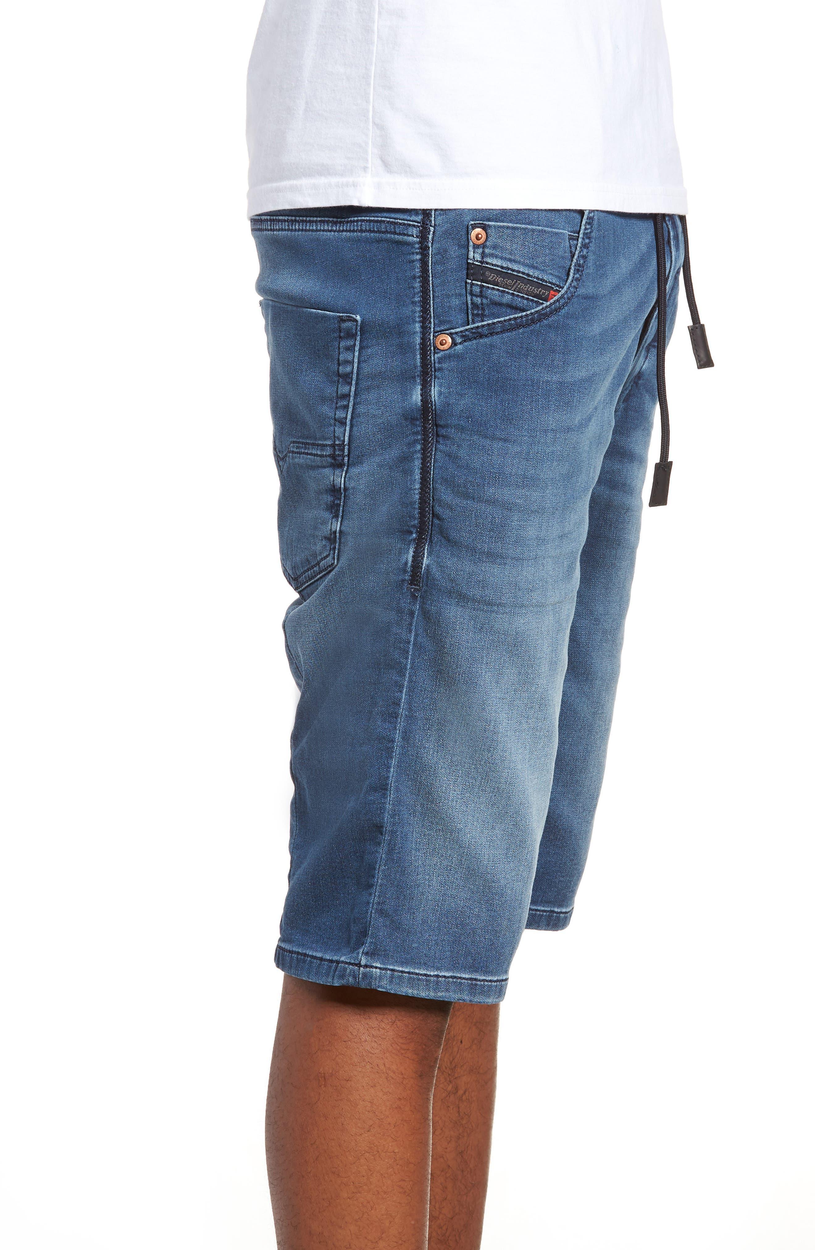 Krooshort Denim Shorts,                             Alternate thumbnail 3, color,                             0687C