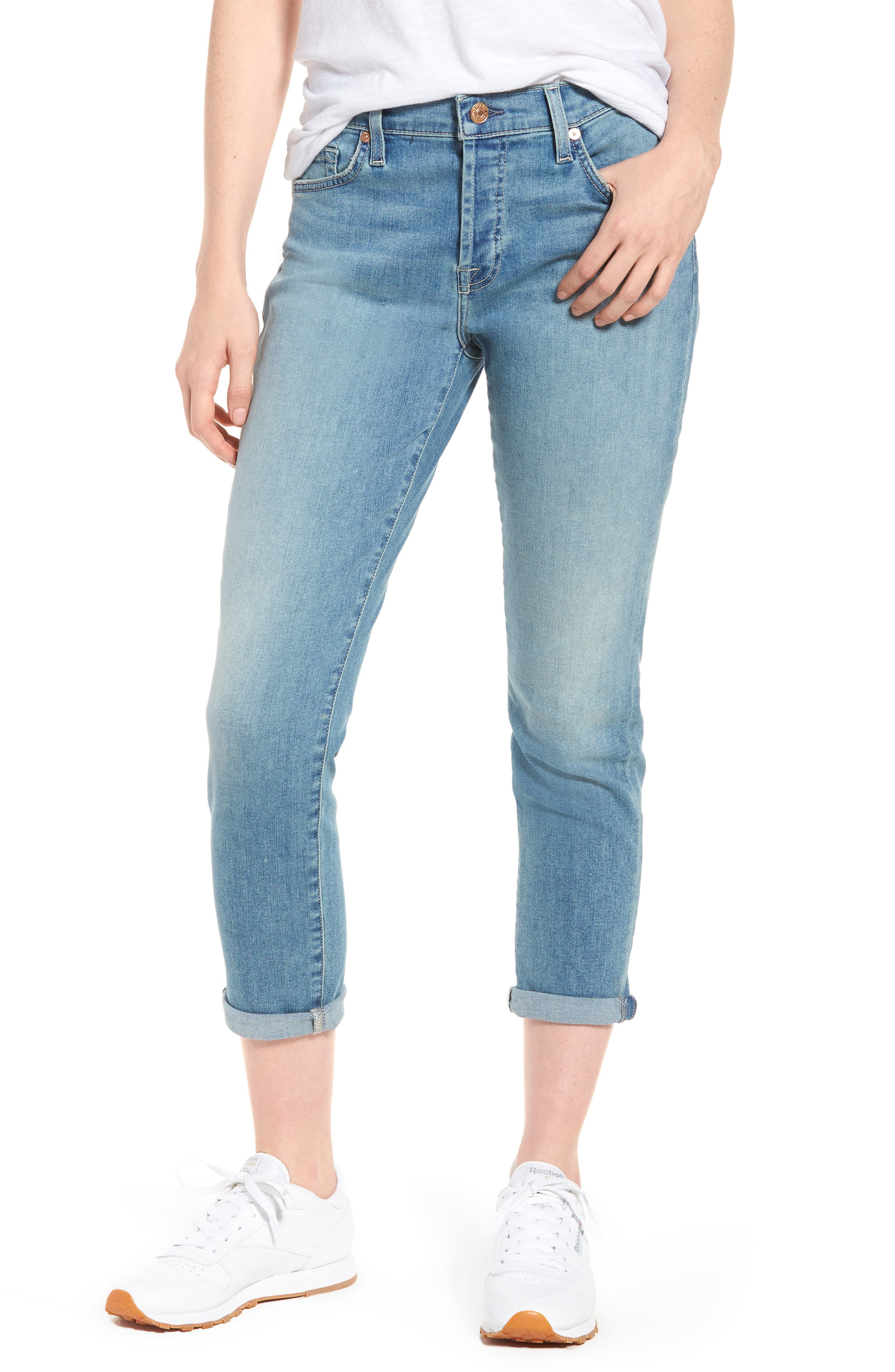 7 For All Mankind® Josefina Crop Boyfriend Jeans (Desert Heights)