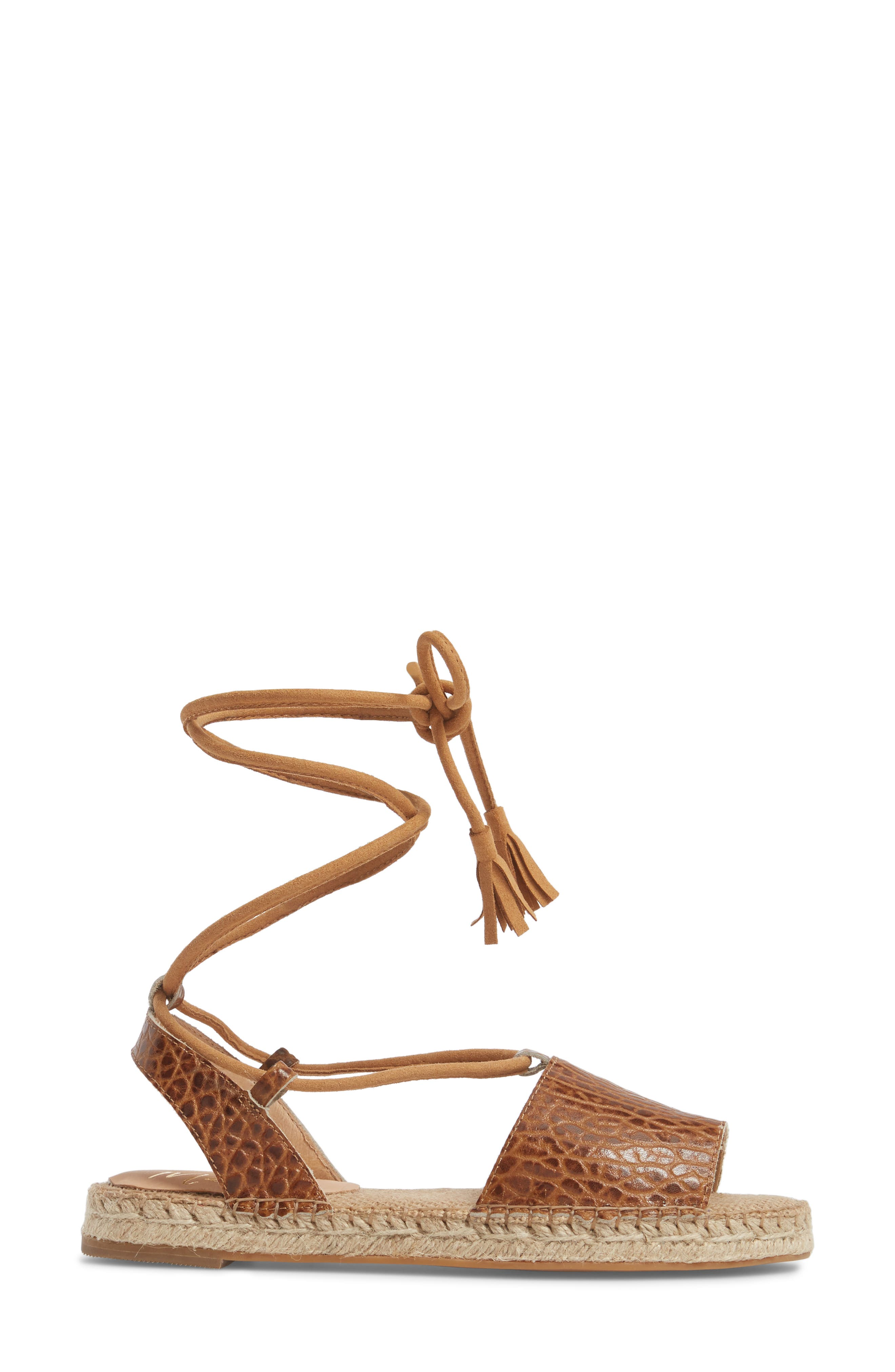 Amuse Society x Matisse La Vita Sandal,                             Alternate thumbnail 3, color,                             Tan Leather