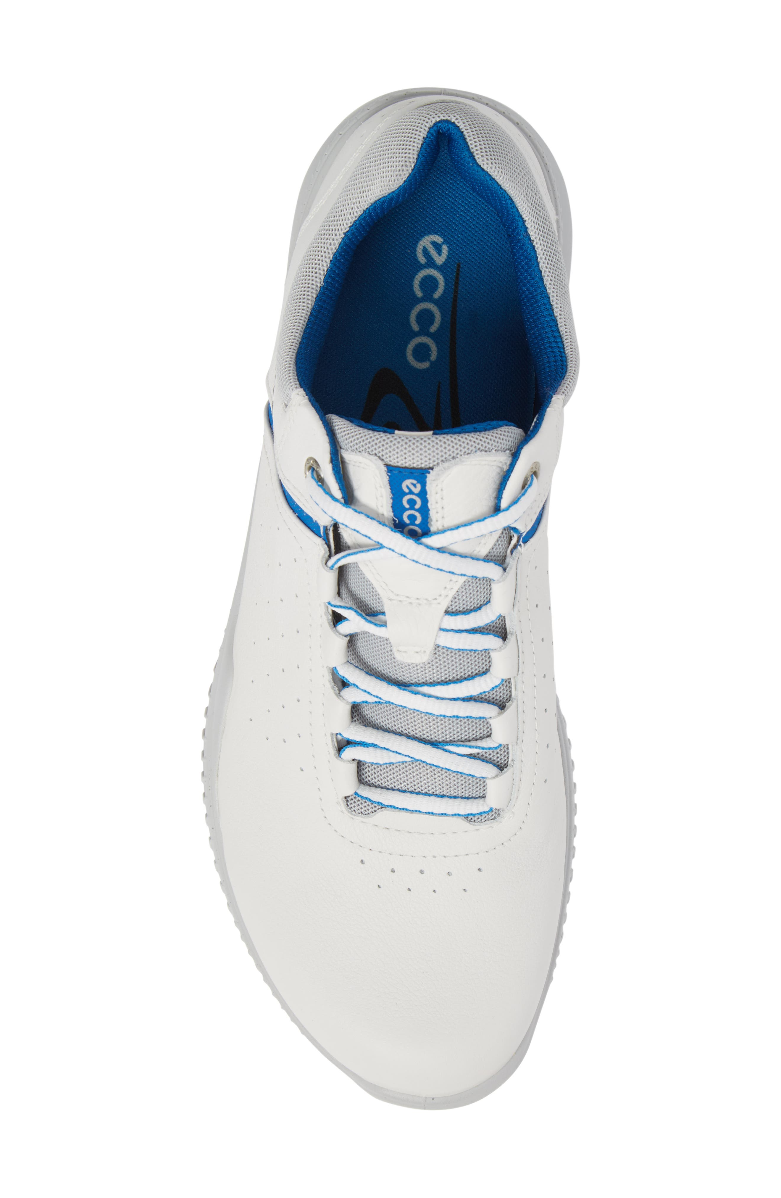 S-Drive Water Repellent Golf Shoe,                             Alternate thumbnail 5, color,                             White Leather