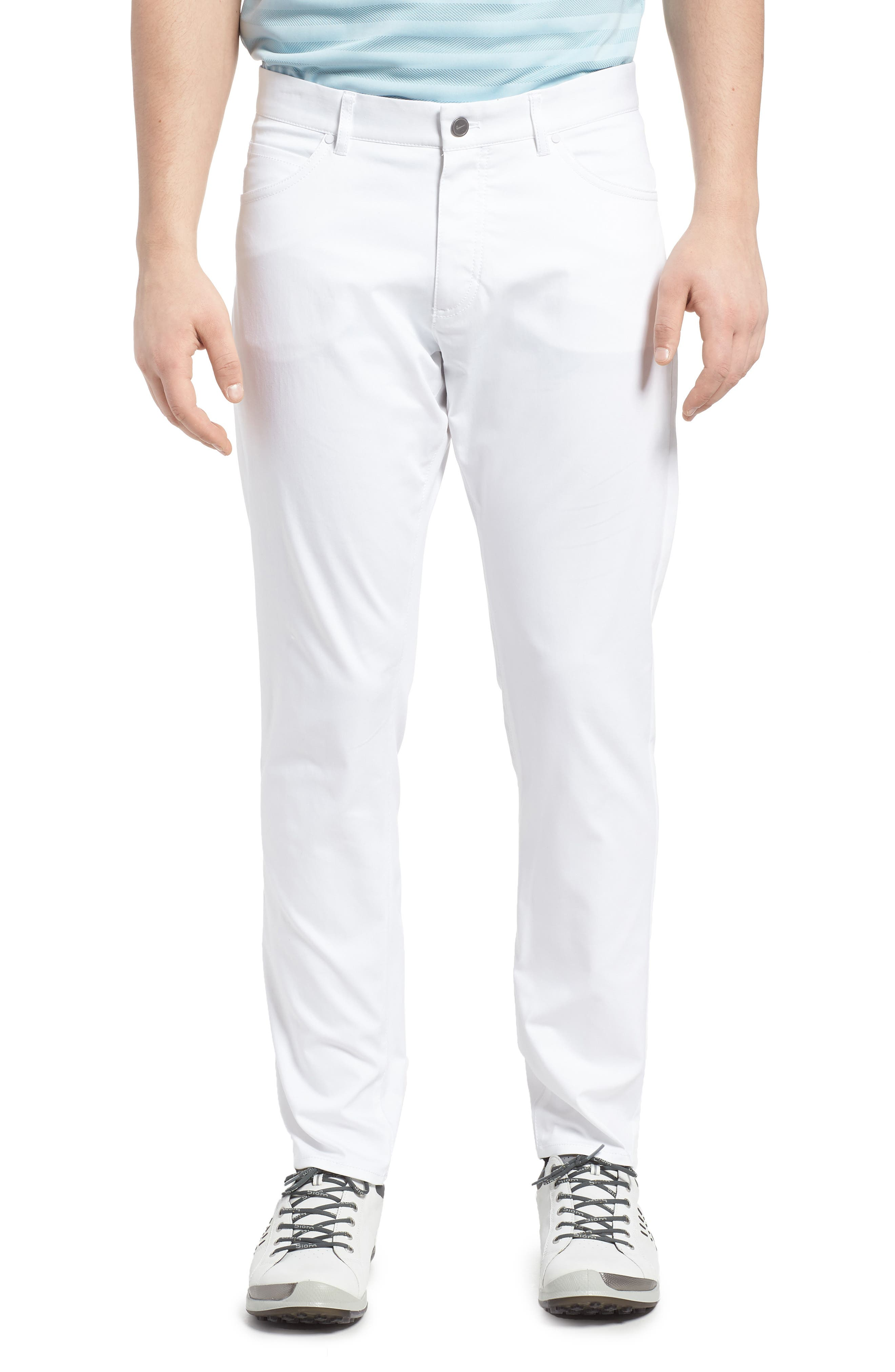 Dry Flex Slim Fit Golf Pants,                         Main,                         color, White/ White