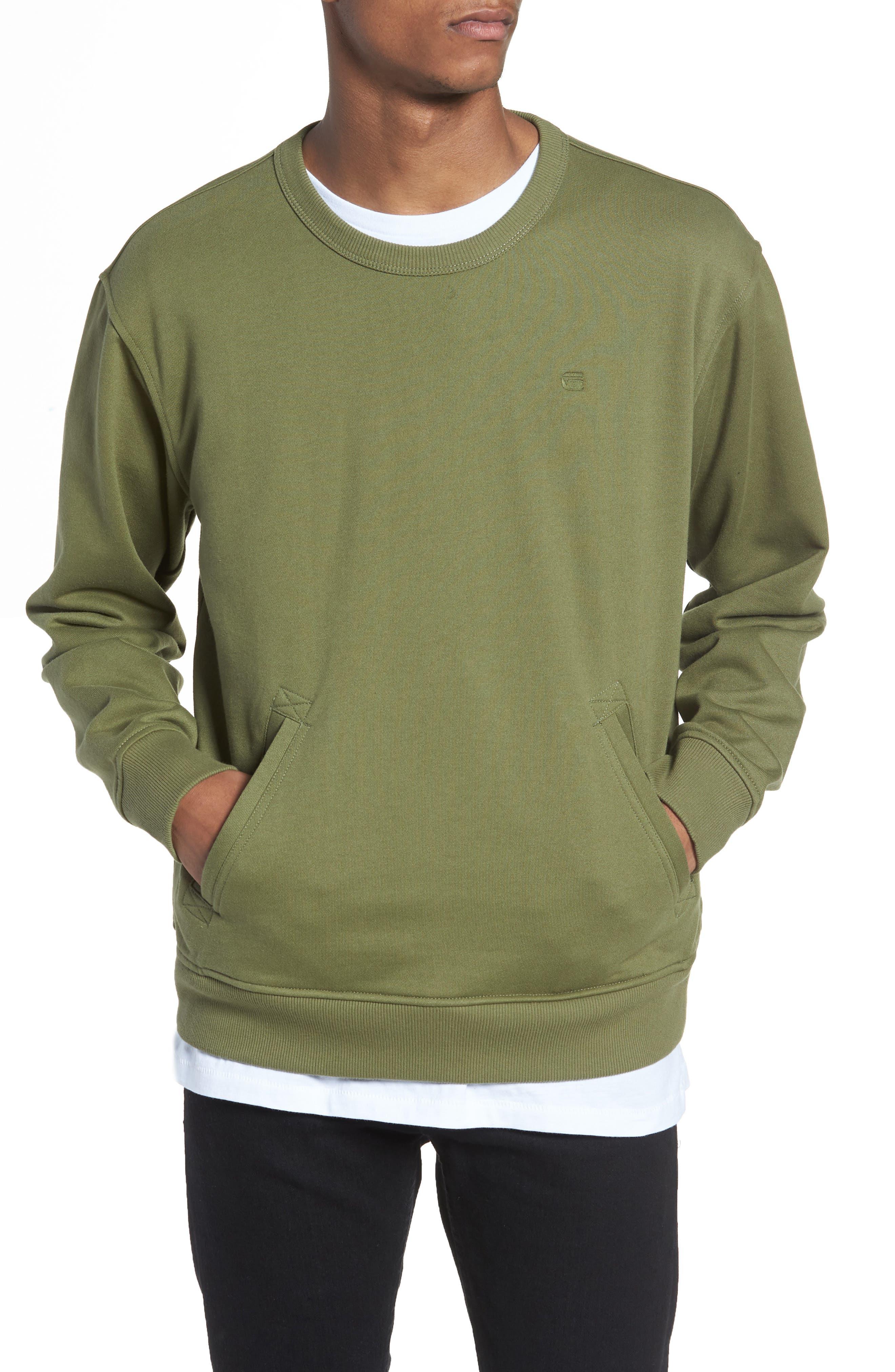 Core Hybrid Archive Sweatshirt,                             Main thumbnail 1, color,                             Sage
