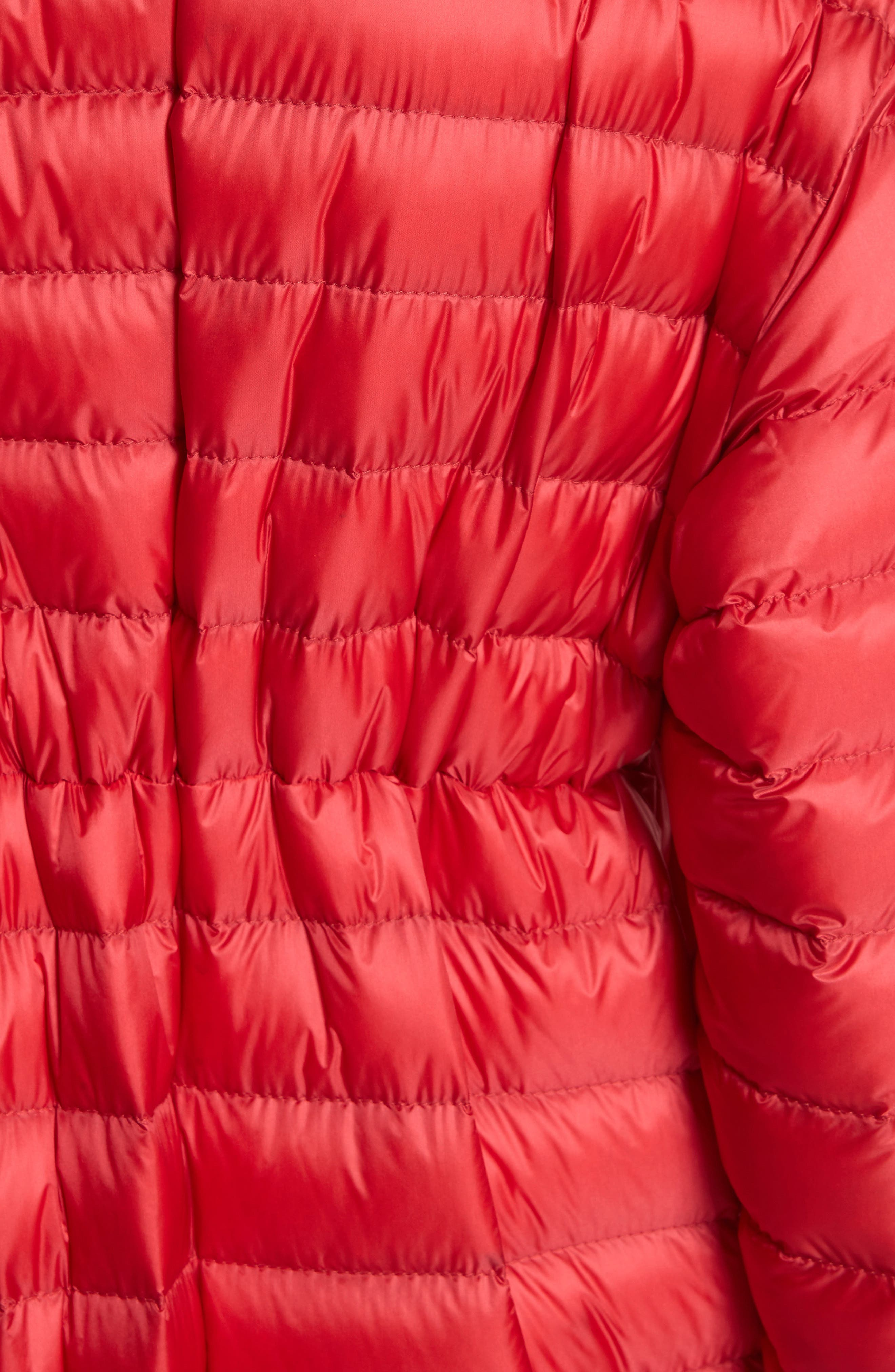 Charoite Water Resistant Down Puffer Coat,                             Alternate thumbnail 7, color,                             Red