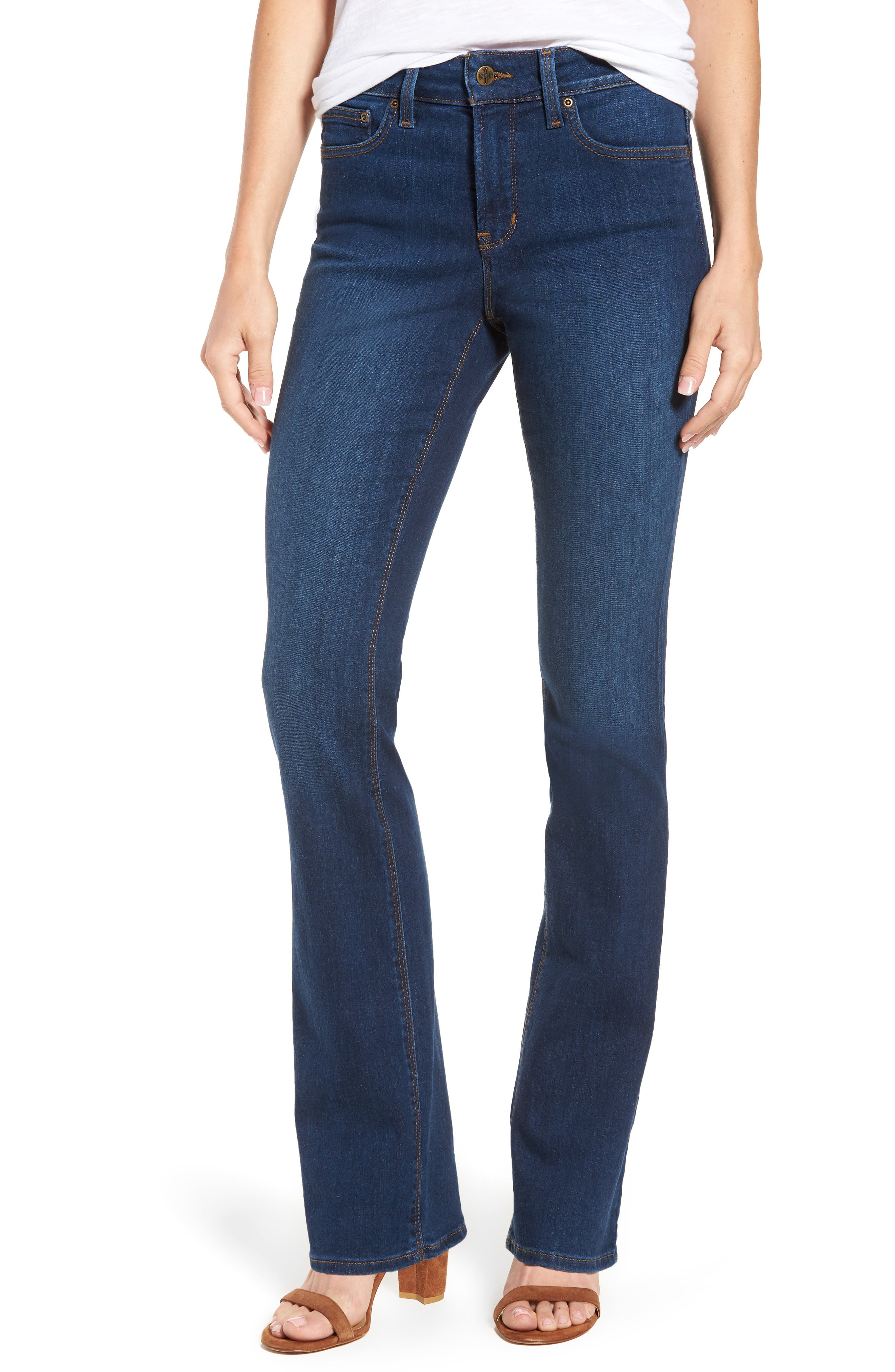 Billie Mini Bootcut Jeans,                         Main,                         color, Cooper