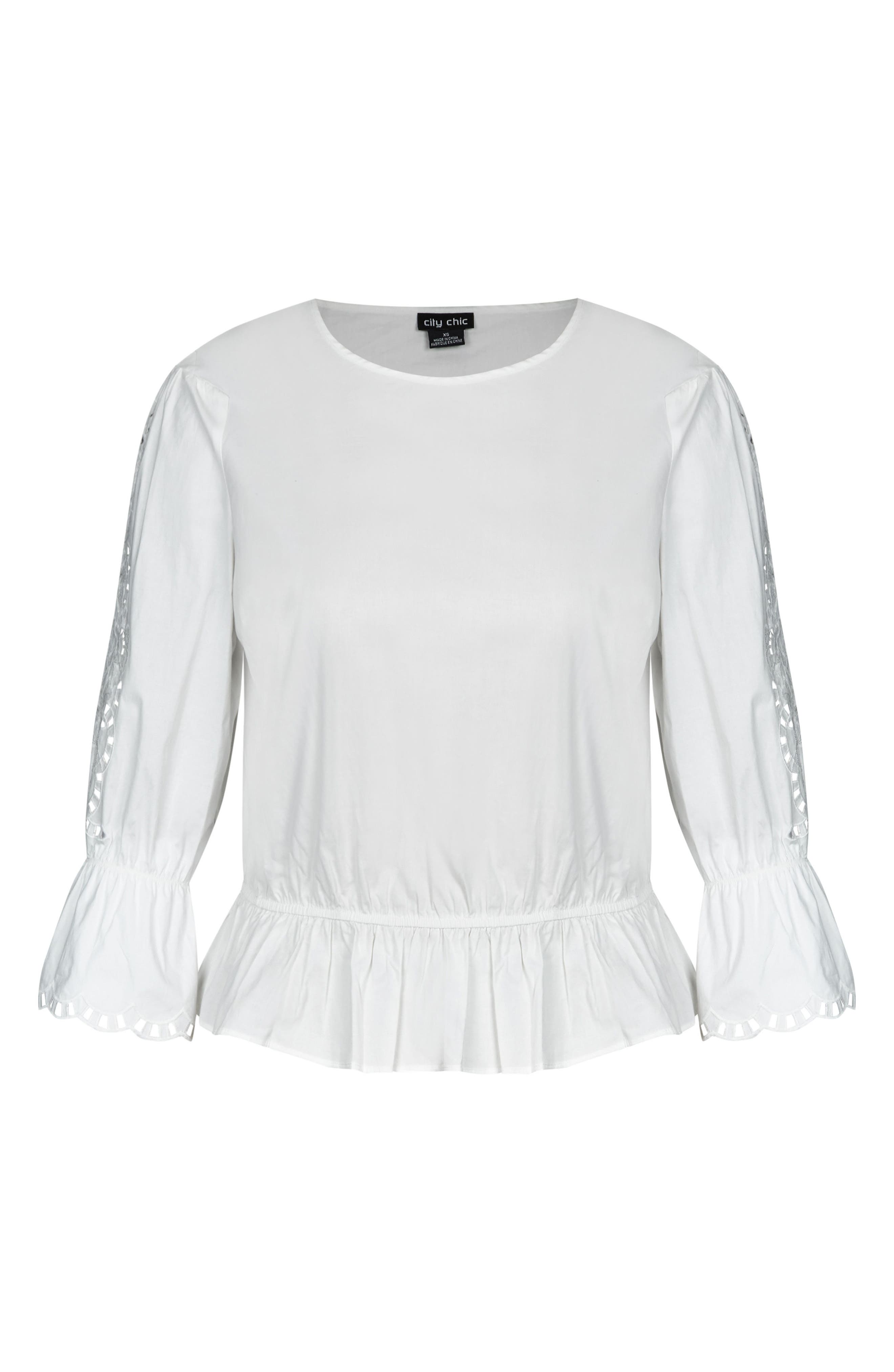 Day Dreamer Top,                             Alternate thumbnail 3, color,                             Ivory