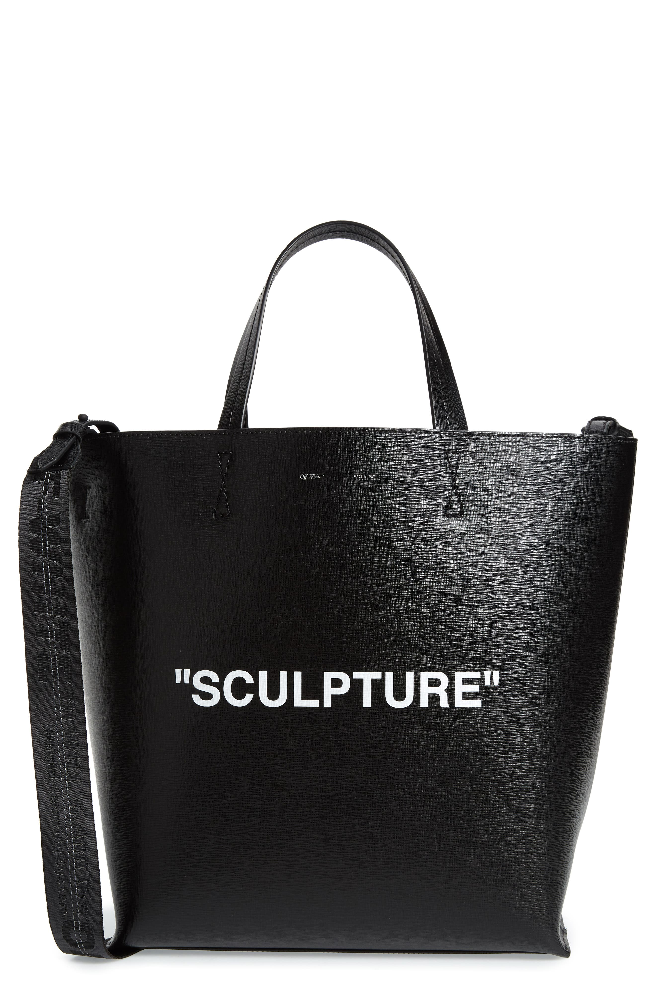 Alternate Image 1 Selected - Off-White Large Sculpture Leather Tote