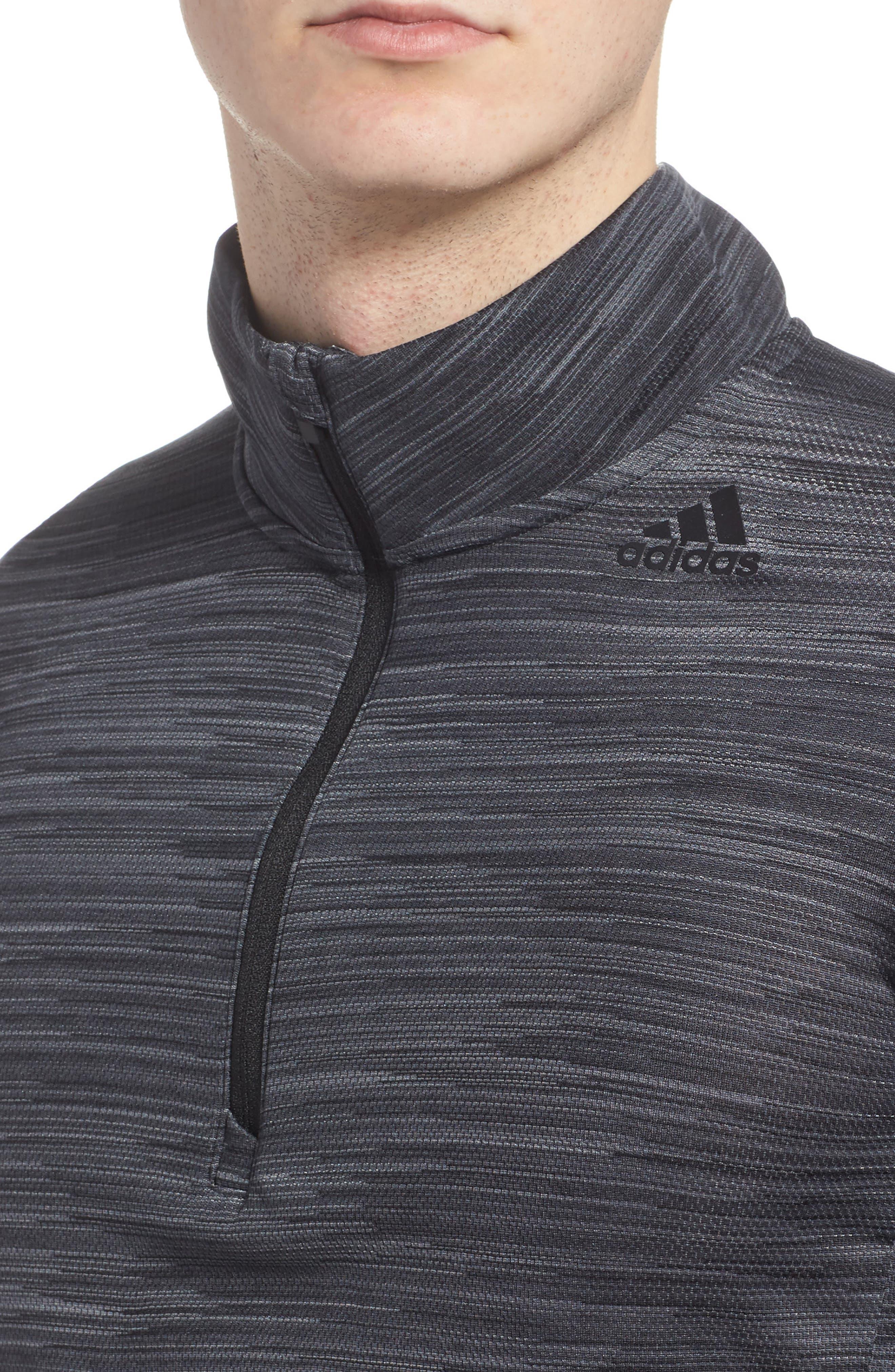 Ultimate Tech Quarter Zip Pullover,                             Alternate thumbnail 4, color,                             Carbon