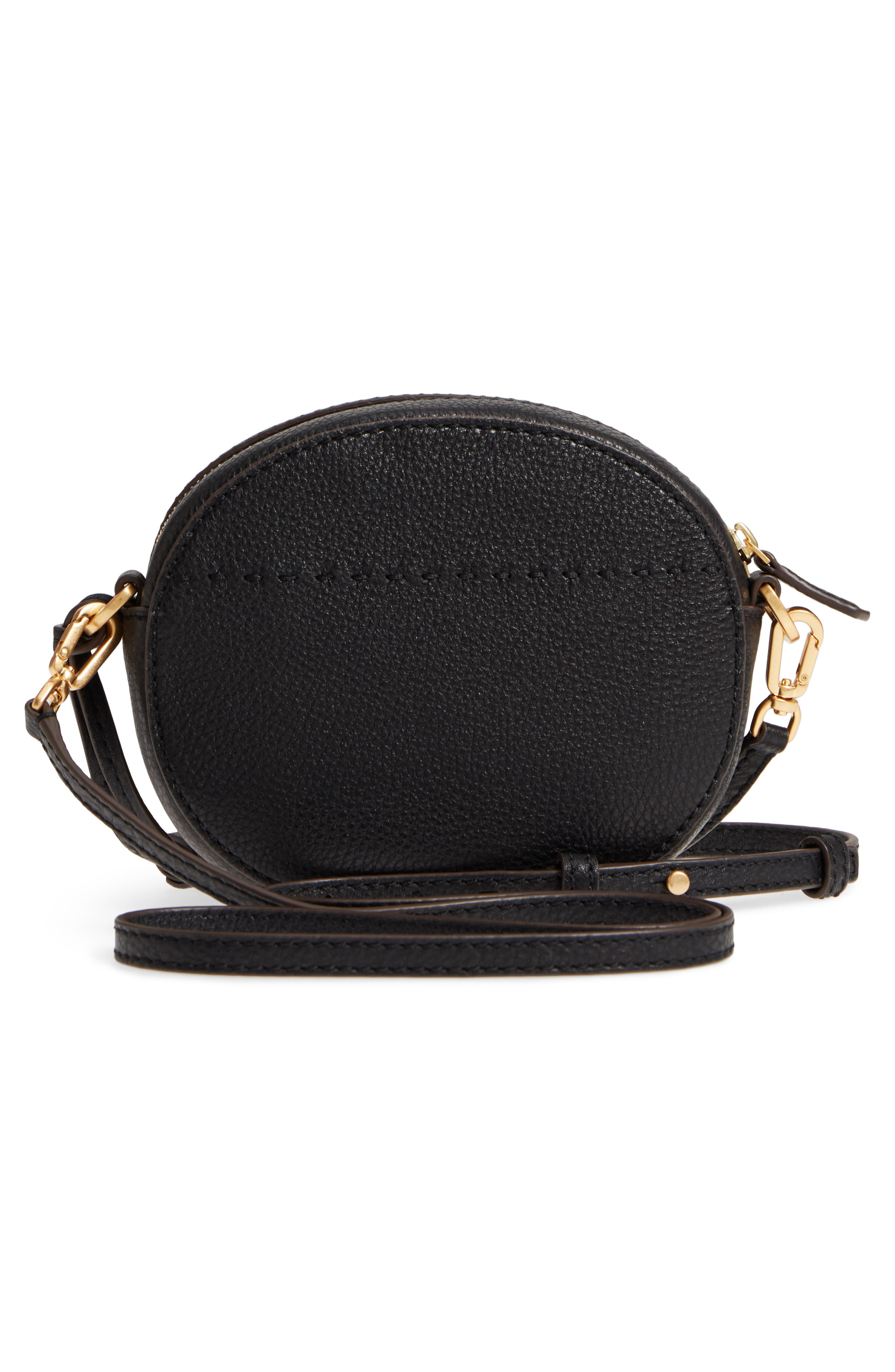 McGraw Leather Crossbody Bag,                             Alternate thumbnail 3, color,                             Black