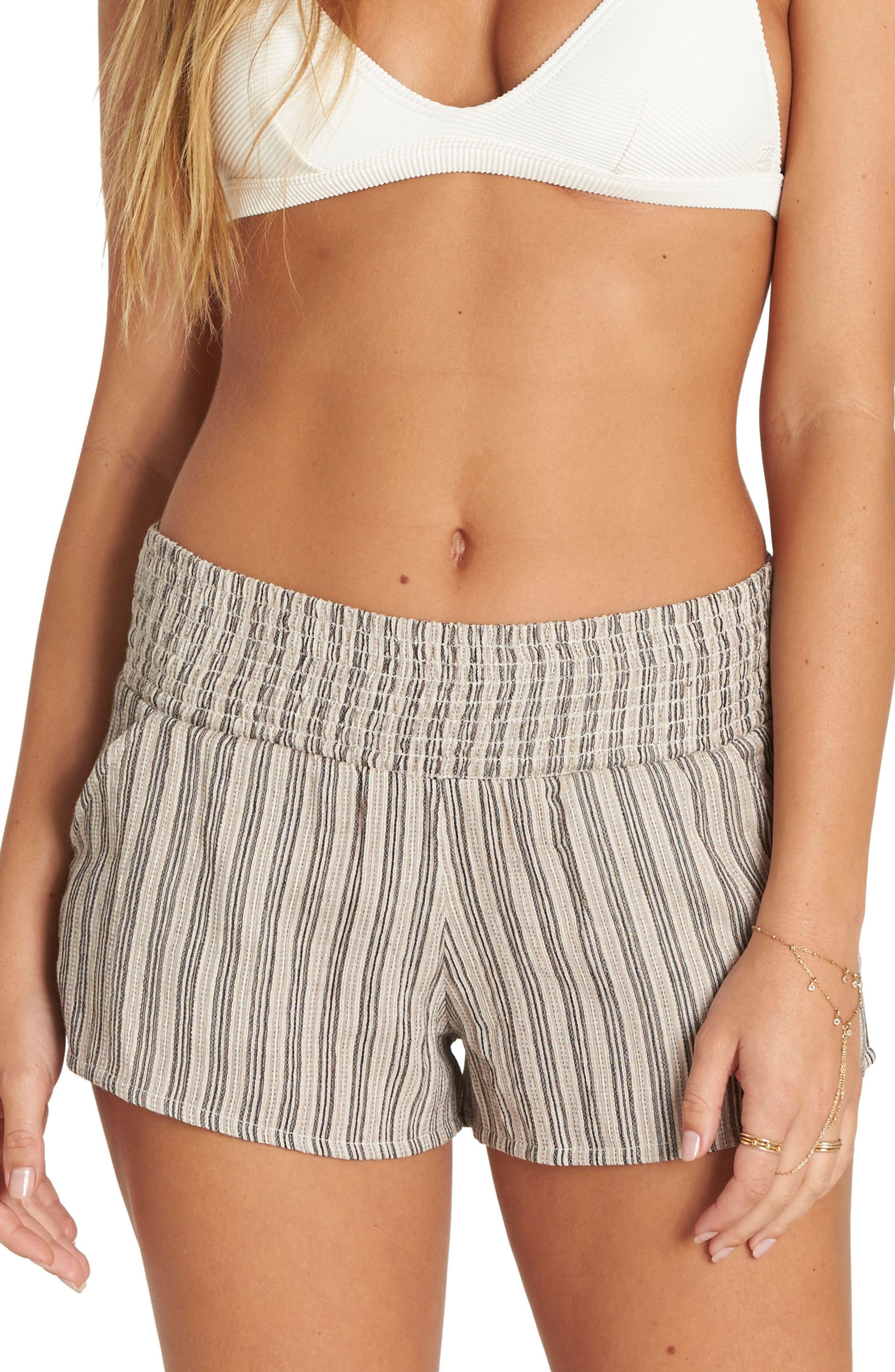 Waves for Days Beach Shorts,                         Main,                         color, Stone