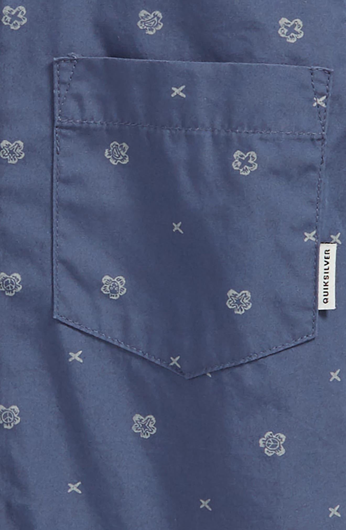 Kamanoa Woven Shirt,                             Alternate thumbnail 2, color,                             Vintage Indigo