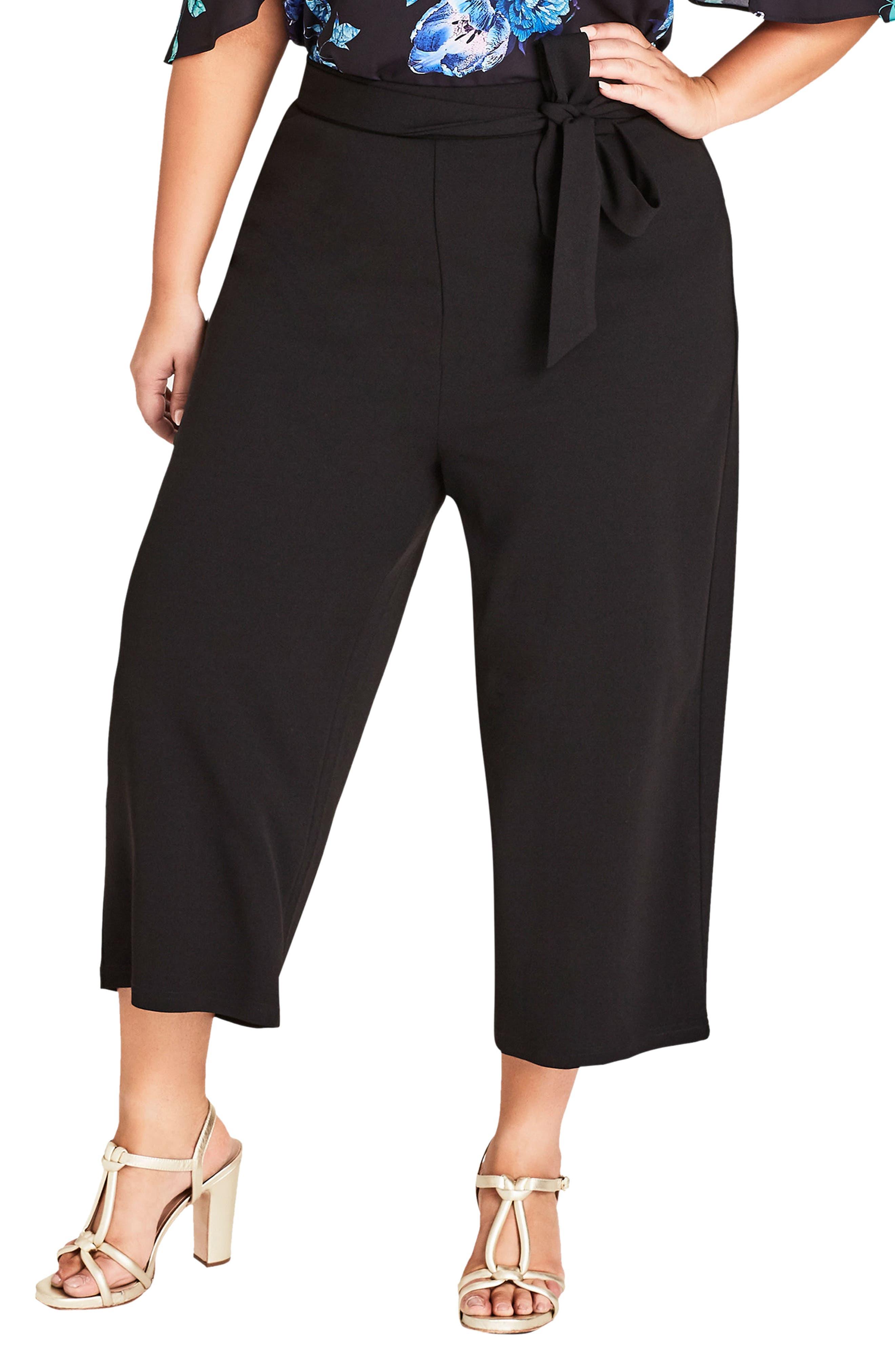 City Chic Obi Tie Pants (Plus Size)