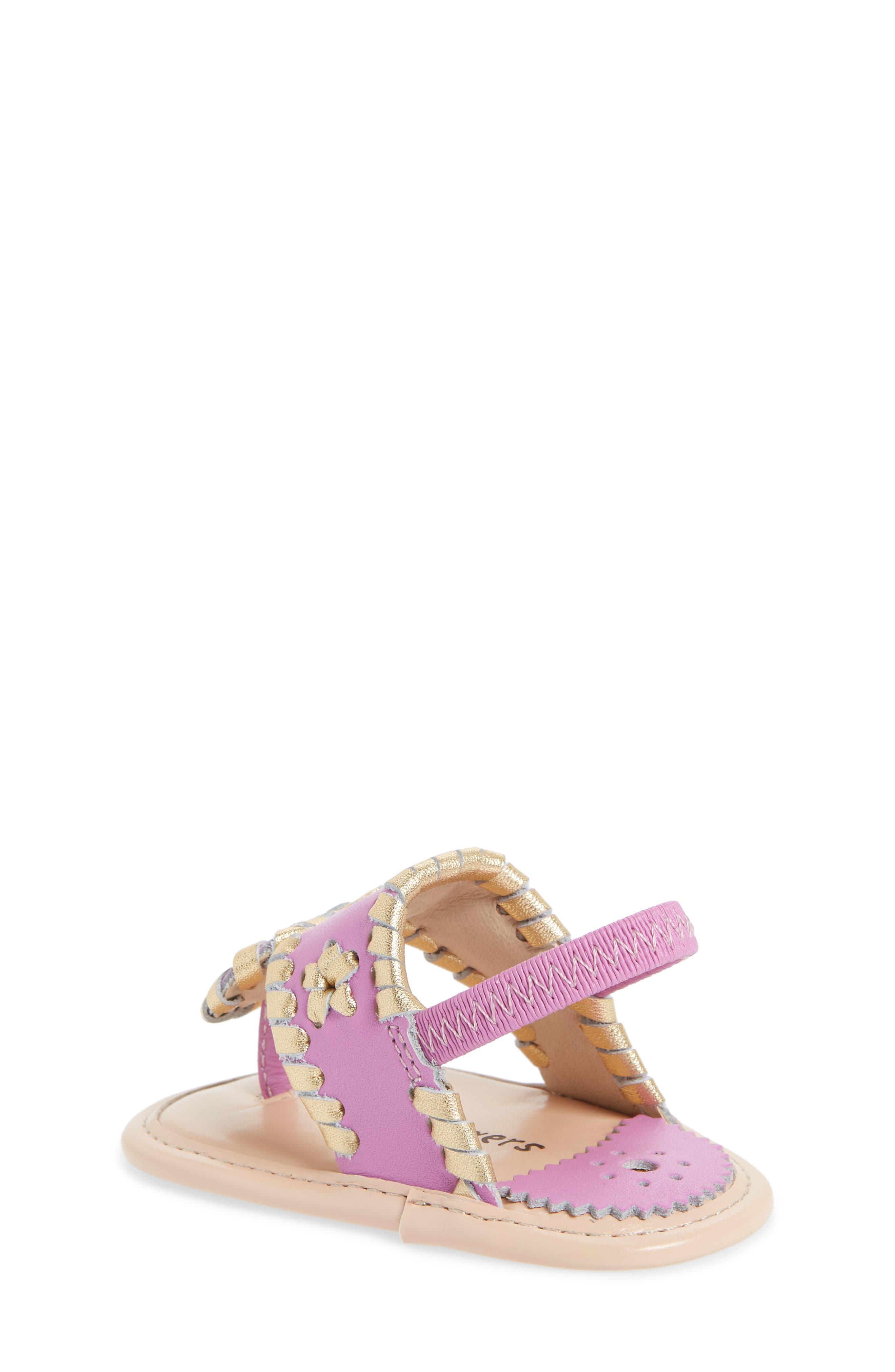 Hollis Sandal,                             Alternate thumbnail 2, color,                             Lavender Pink/ Gold Leather