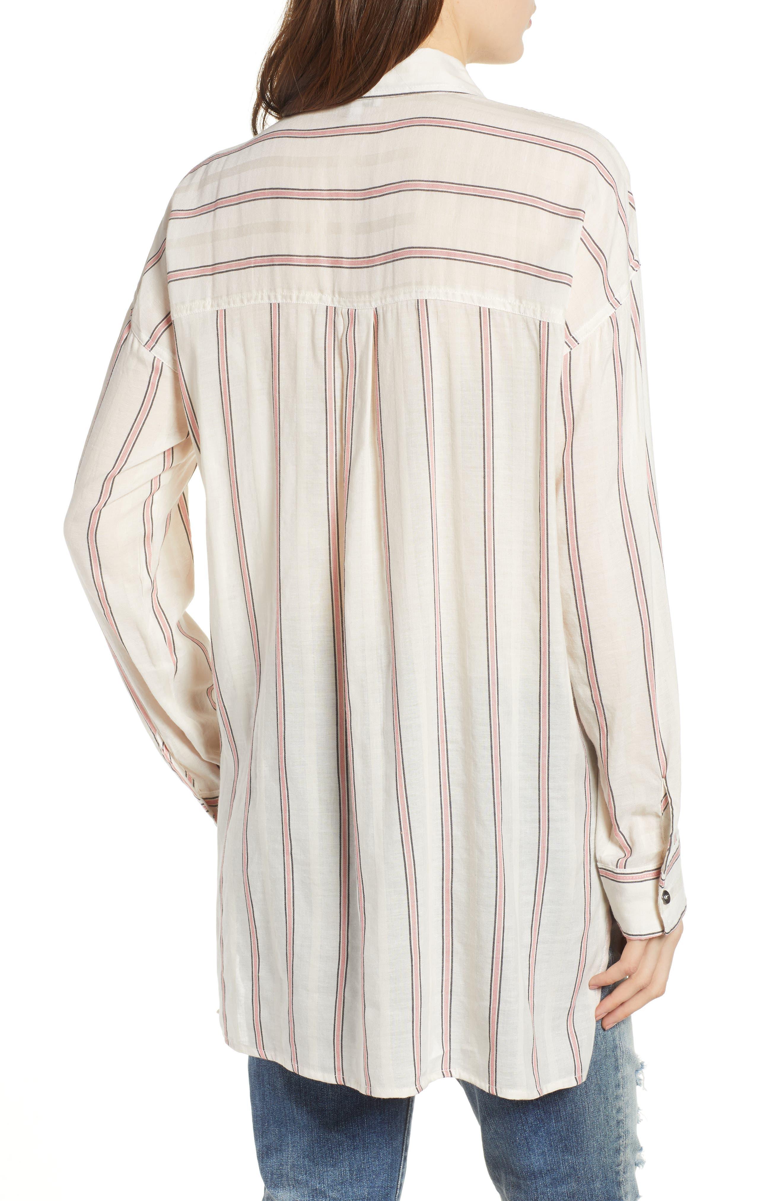 Stripe Woven Shirt,                             Alternate thumbnail 2, color,                             Off White