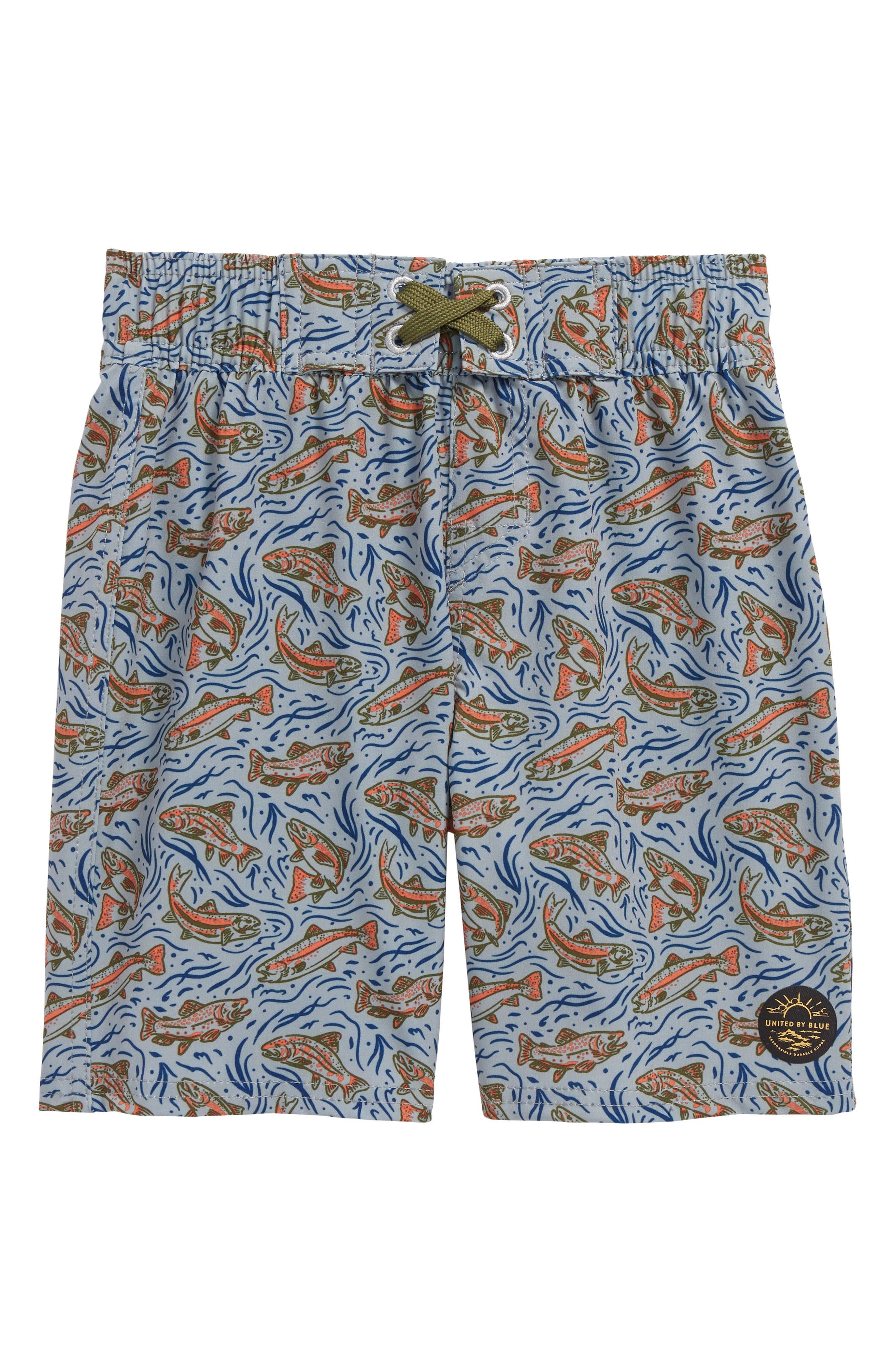Alternate Image 1 Selected - United By Blue Upstream Board Shorts (Little Boys & Big Boys)